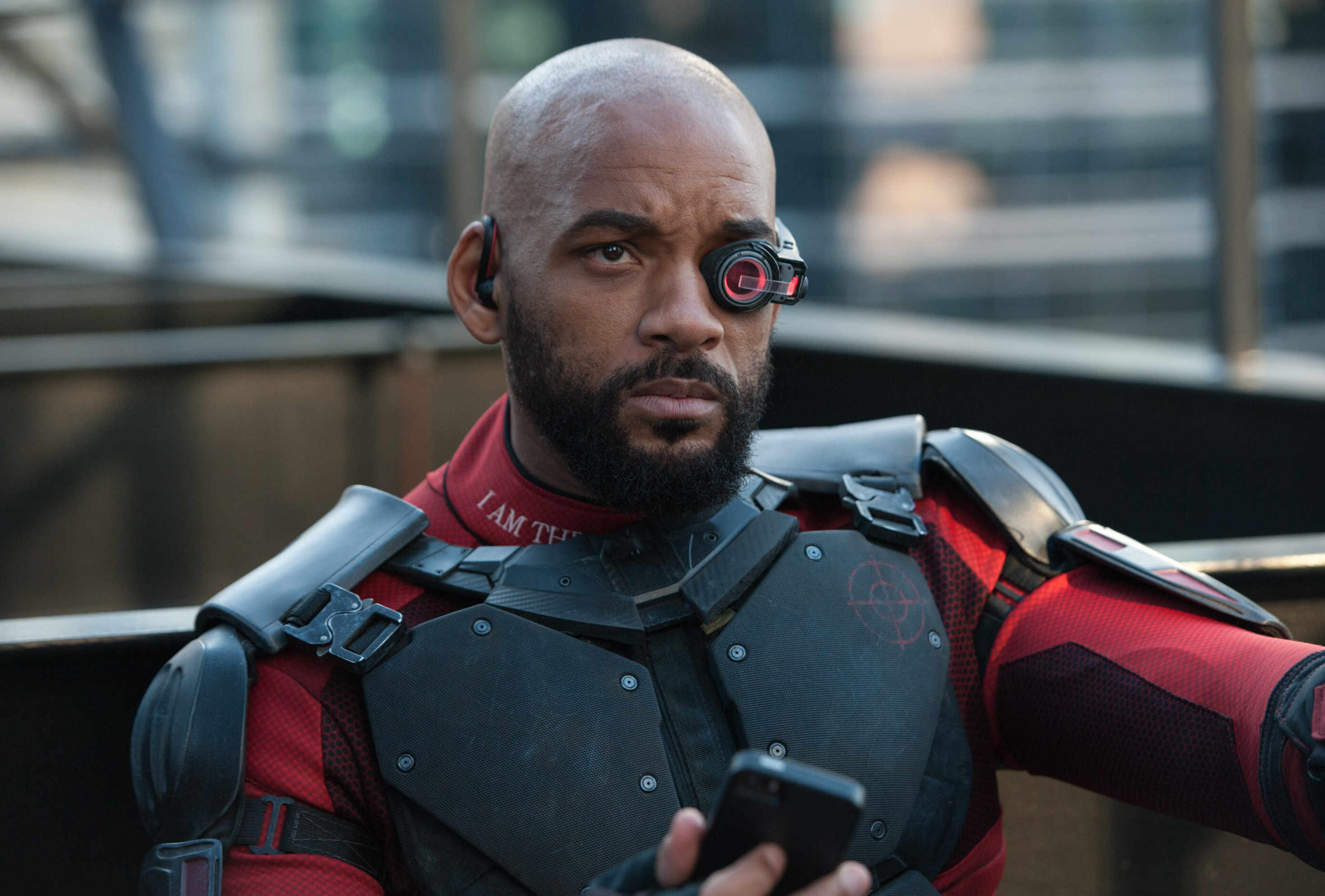 "Will Smith stars as Floyd Lawton/Deadshot in 2016's ""Suicide Squad."""