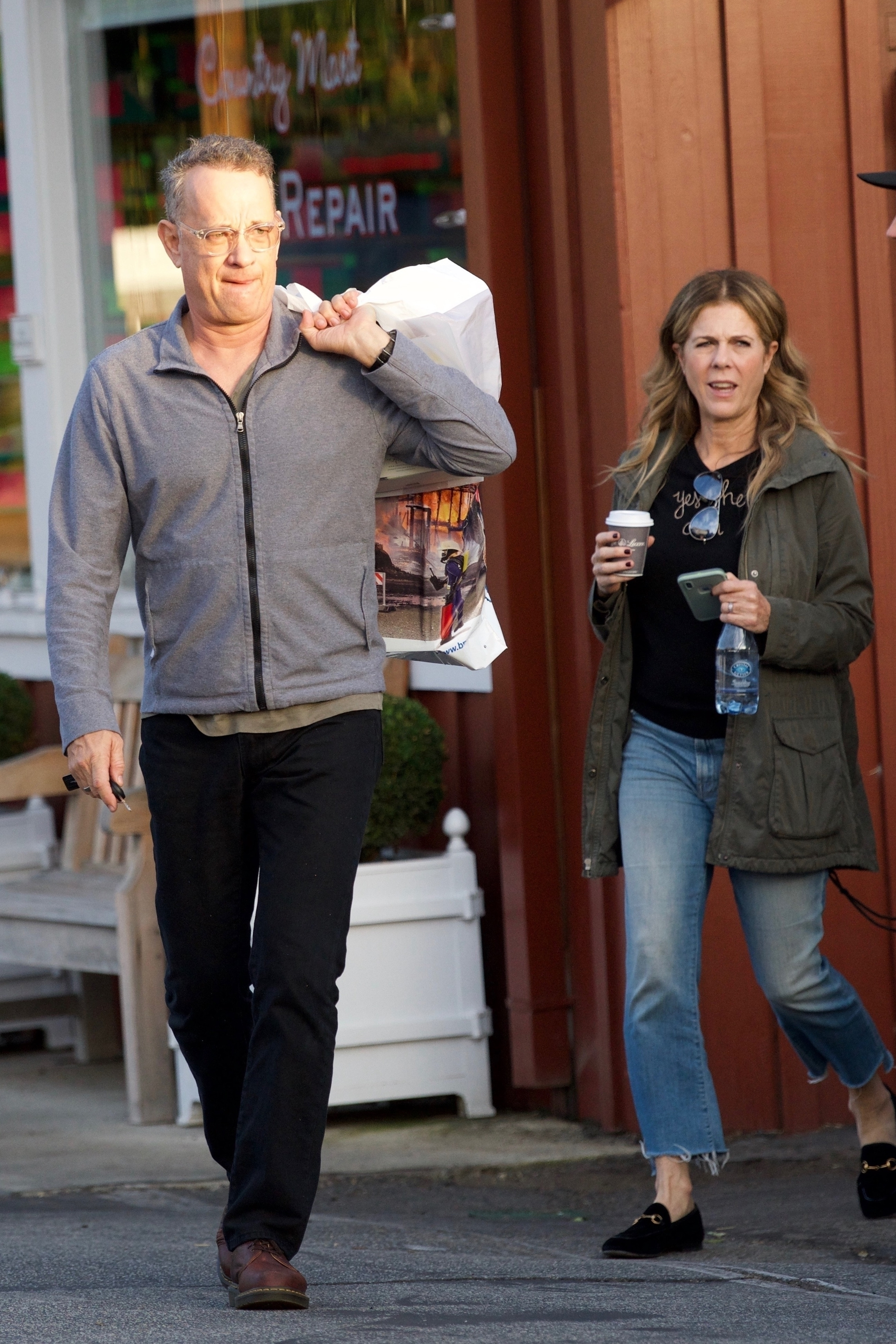 Tom Hanks was spotted Christmas shopping with his wife Rita Wilson and their son Truman in preparation for the holidays on Los Angeles on Dec. 16, 2018.