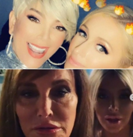 Kris Jenner, Caitlyn Jenner, Paris Hilton and Sophia Hutchins share photos from the Kardashian Jenner Christmas Eve party on Dec. 25, 2018.