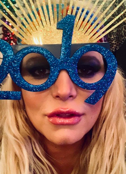 """🎉 Happy New Year! 🎉""   Jessica Simpson, who posted this selfie on Instagram on Jan. 1, 2019."