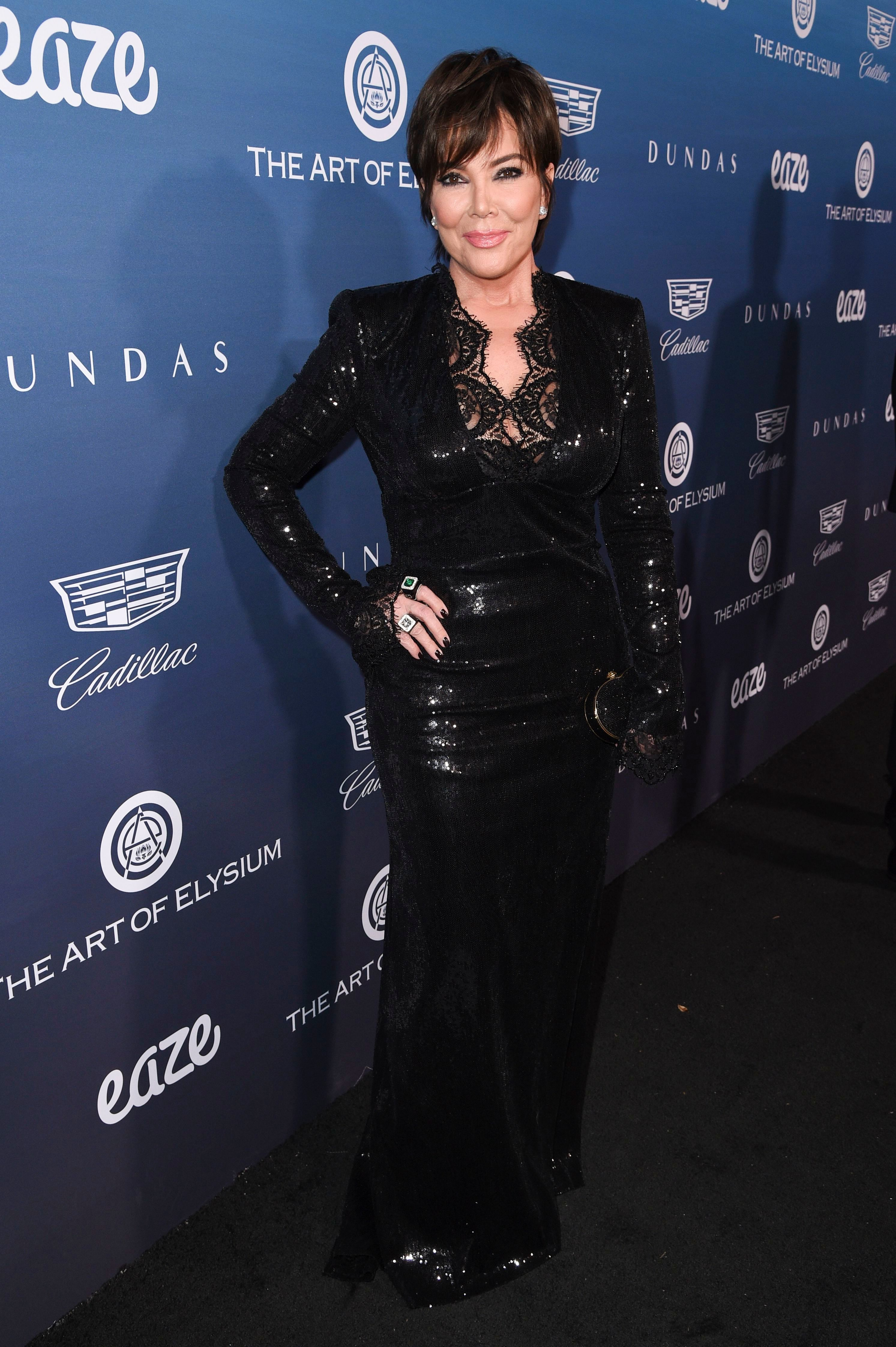 Kris Jenner attends The Art of Elysium's 12th Annual Heaven Gala in Los Angeles on Jan. 5, 2019.