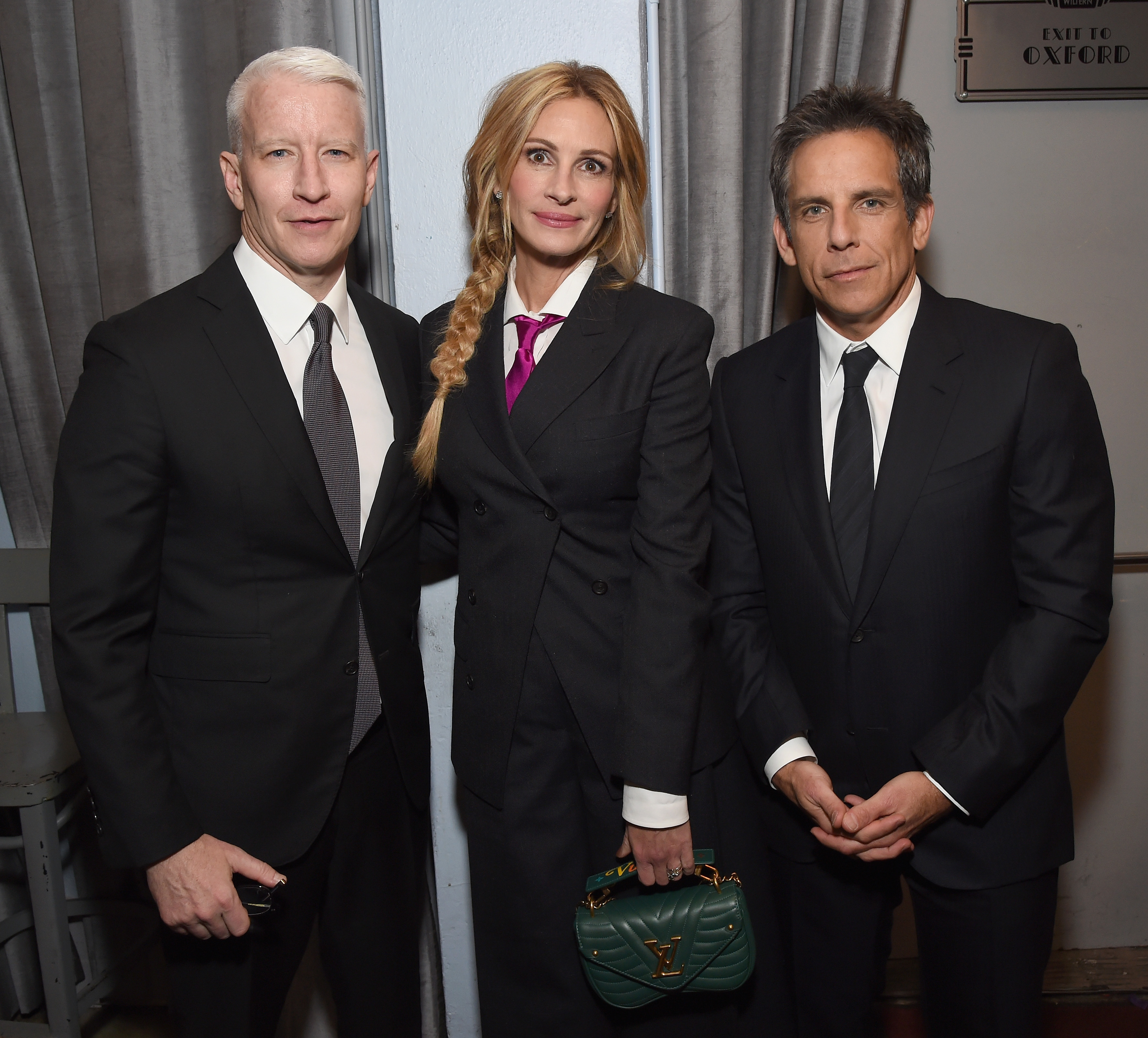 Anderson Cooper, Julia Roberts and Ben Stiller attend the Sean Penn CORE Gala with Casamigos tequila at The Wiltern in Los Angeles on Jan. 5, 2019.