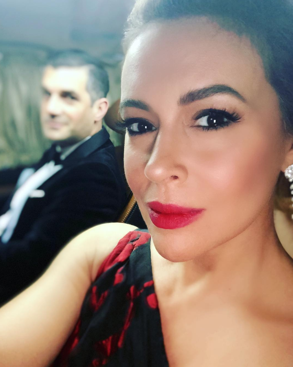 """Here we go! #GoldenGlobes""   Alyssa Milano, who posted this on Jan. 5, 2019."