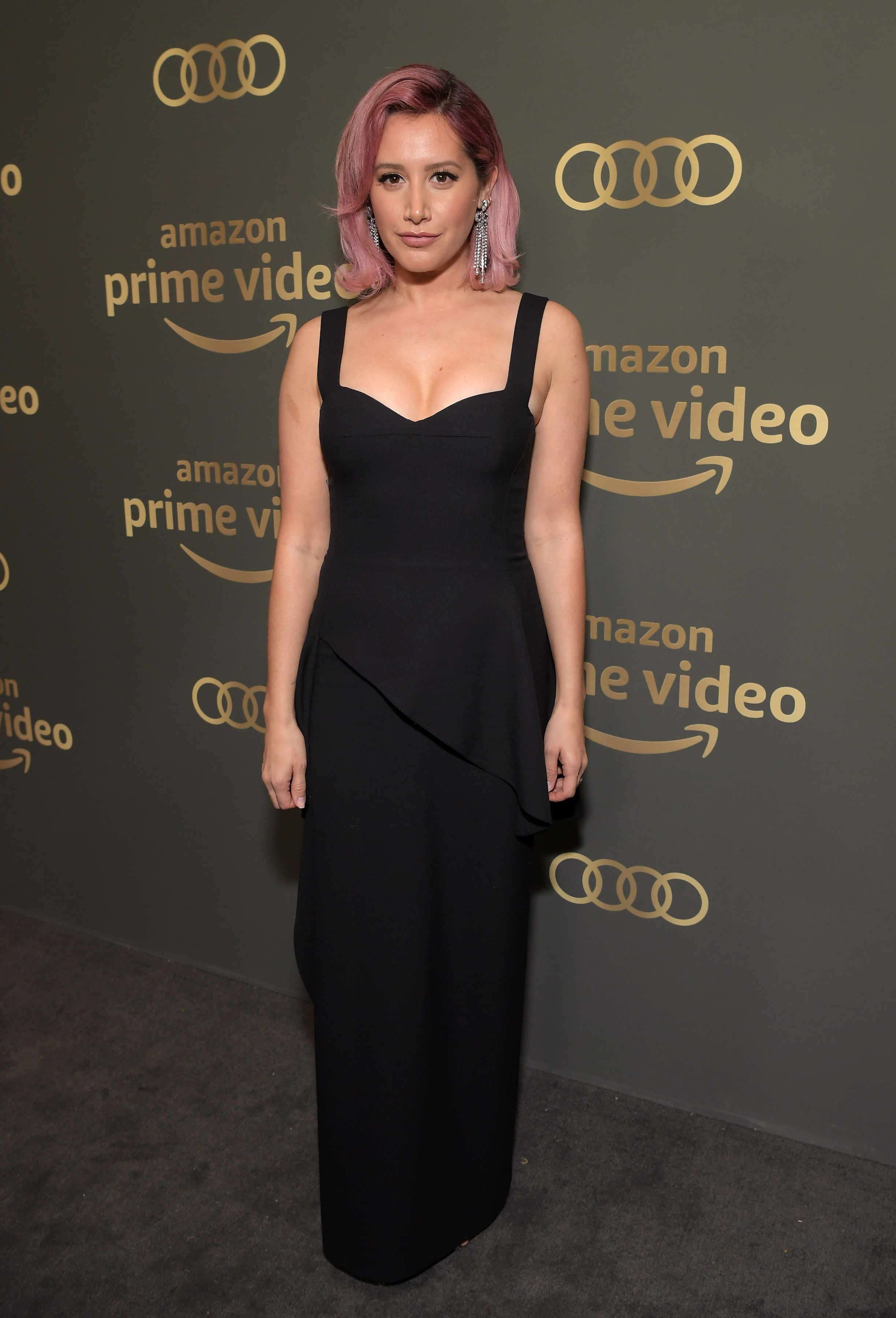 Ashley Tisdale attends the Amazon Prime Video Golden Globe Awards After Party at the Beverly Hilton hotel in Beverly Hills on Jan. 6, 2019.
