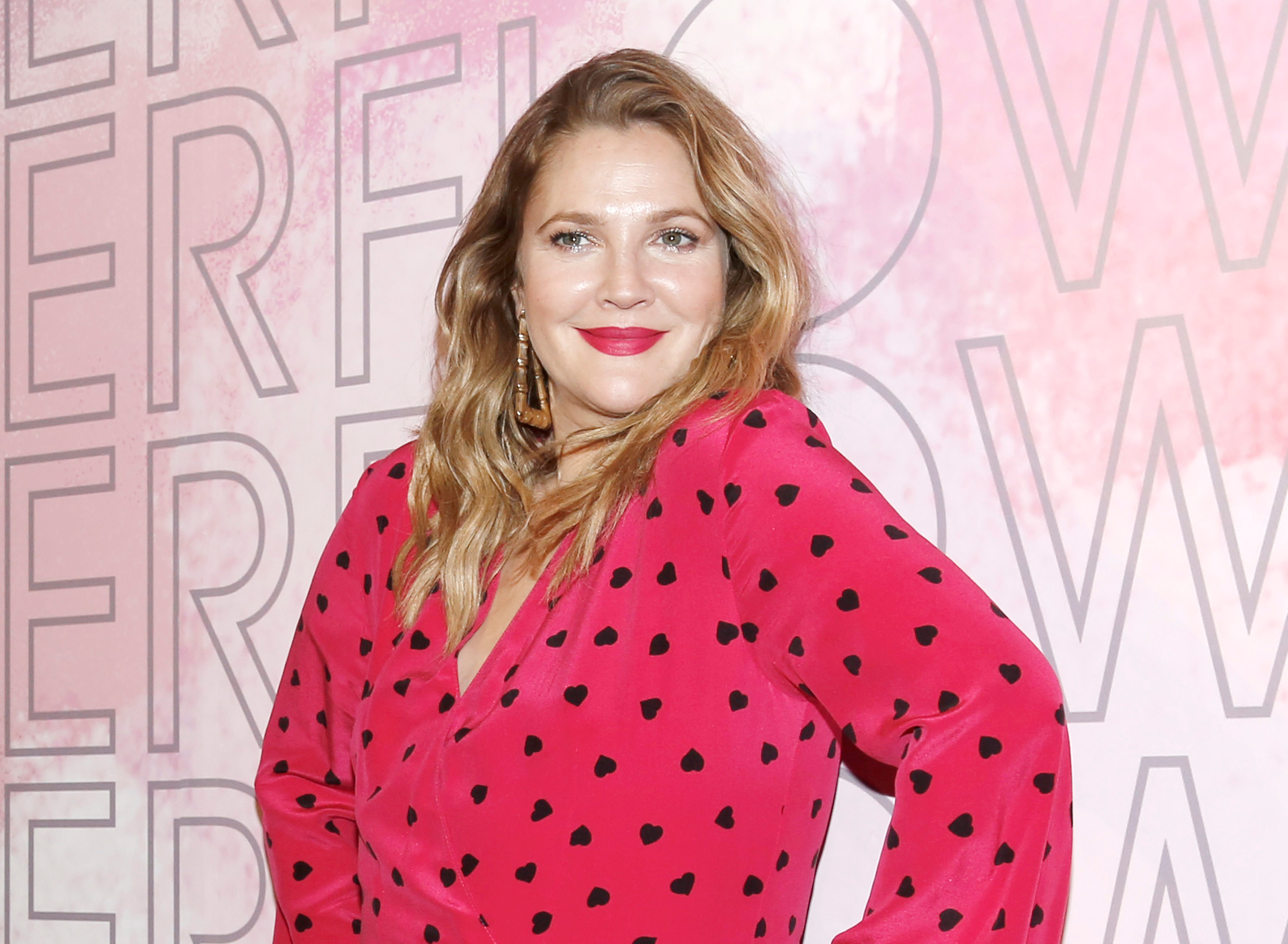 """Drew Barrymore launches her """"Beauty Flower"""" cosmetics line in Mexico City on Nov. 28, 2018."""