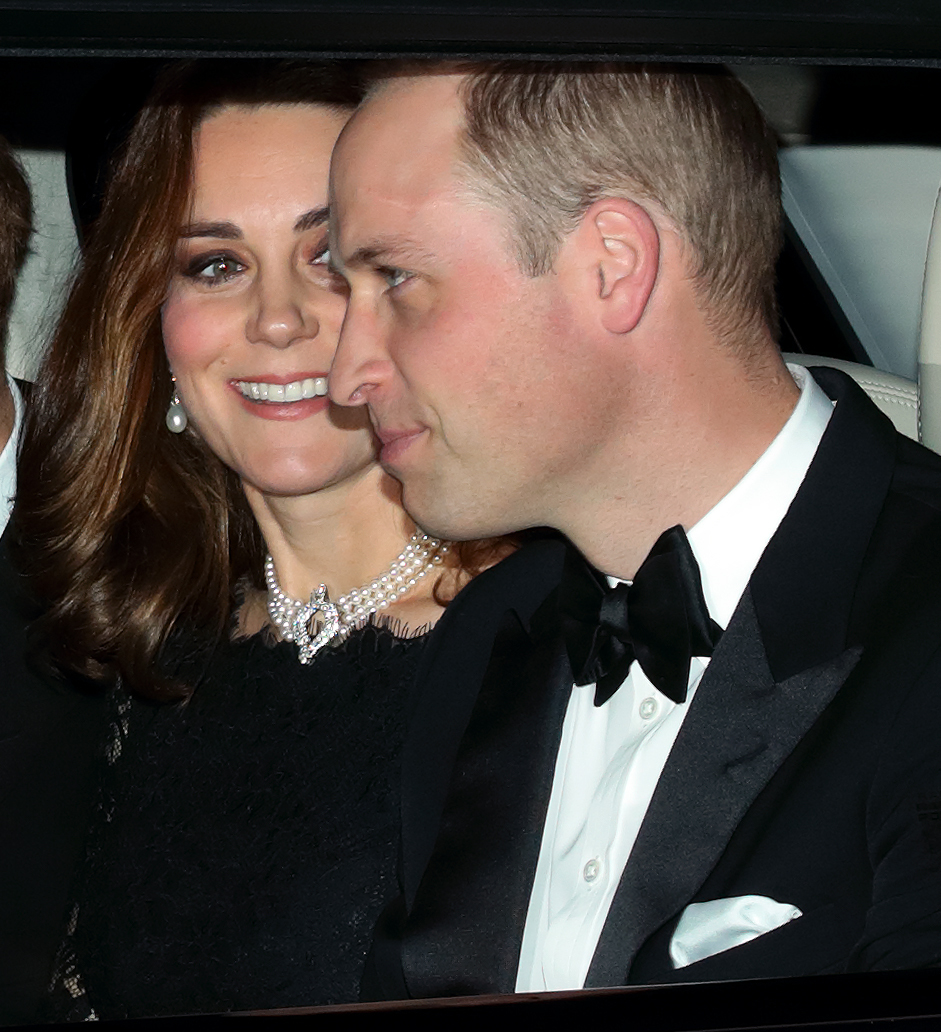 Duchess Kate and Prince William attend Queen Elizabeth II's and Prince Philip, Duke of Edinburgh's 70th wedding anniversary dinner in Windsor, England on Nov. 20, 2017.