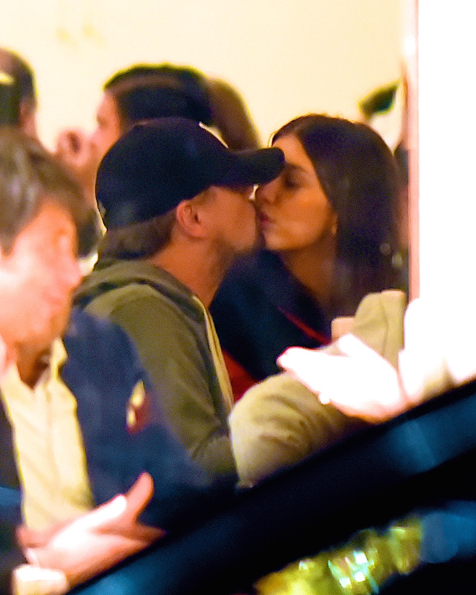 Leonardo DiCarprio and Camila Morrone shared a rare moment of PDA while having dinner in New York City on Jan. 9, 2019.