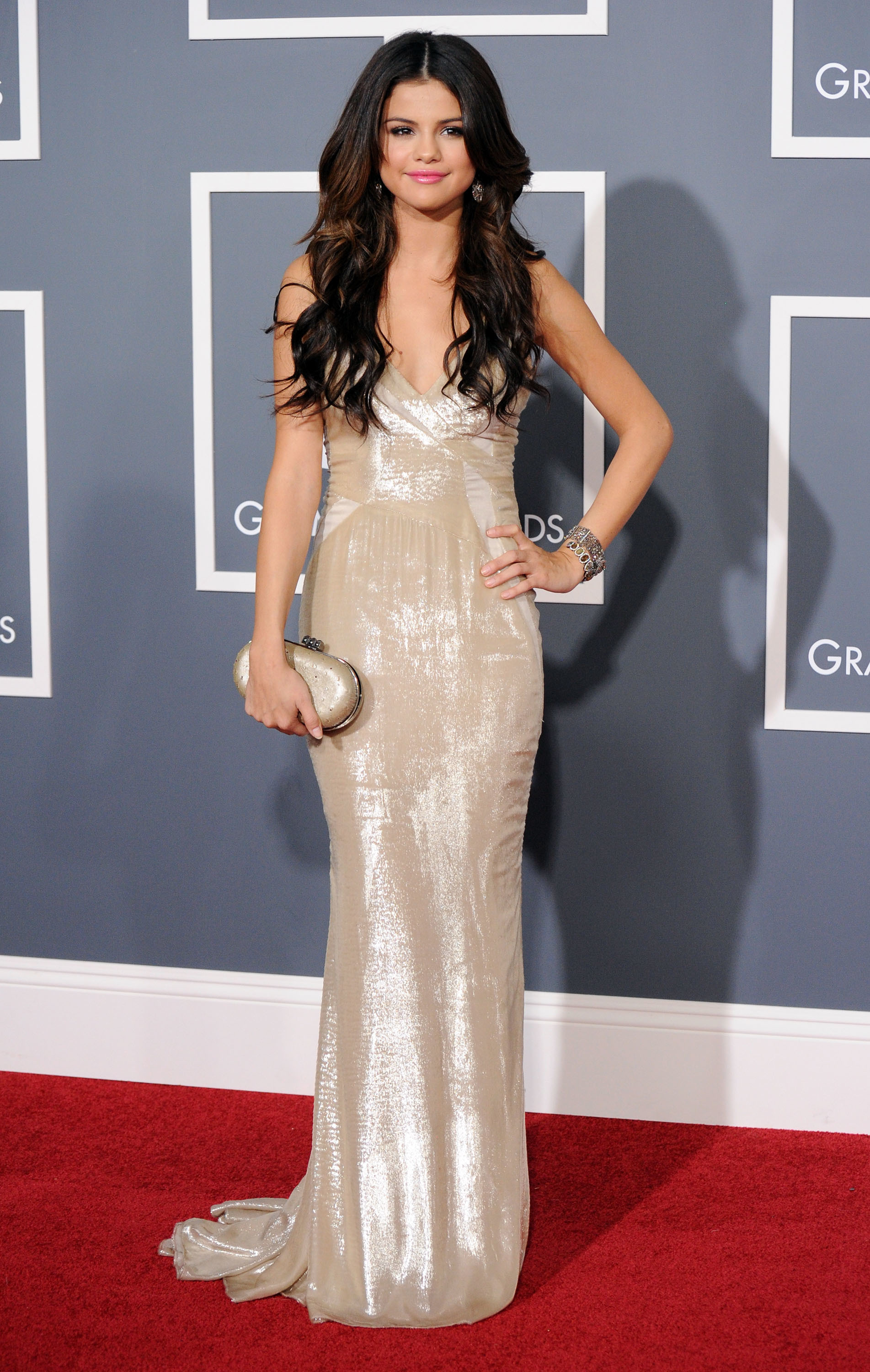 Selena Gomez arrives at The 53rd Annual GRAMMY Awards held at Staples Center in Los Angeles on Feb. 13, 2011.