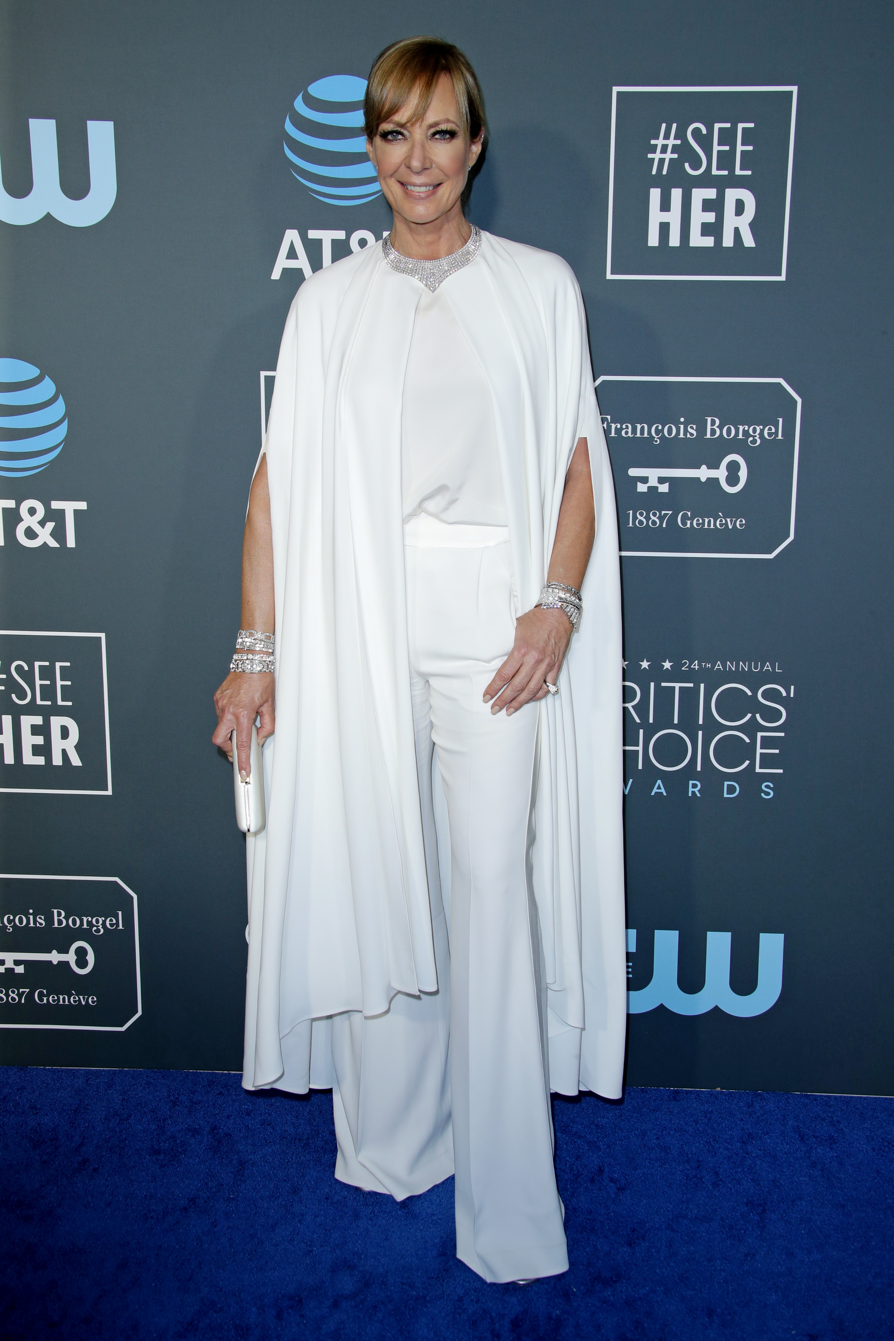 Allison Janney attends the 24th Annual Critics' Choice Awards at Barker Hanger in Santa Monica, California, on Jan. 13, 2019.