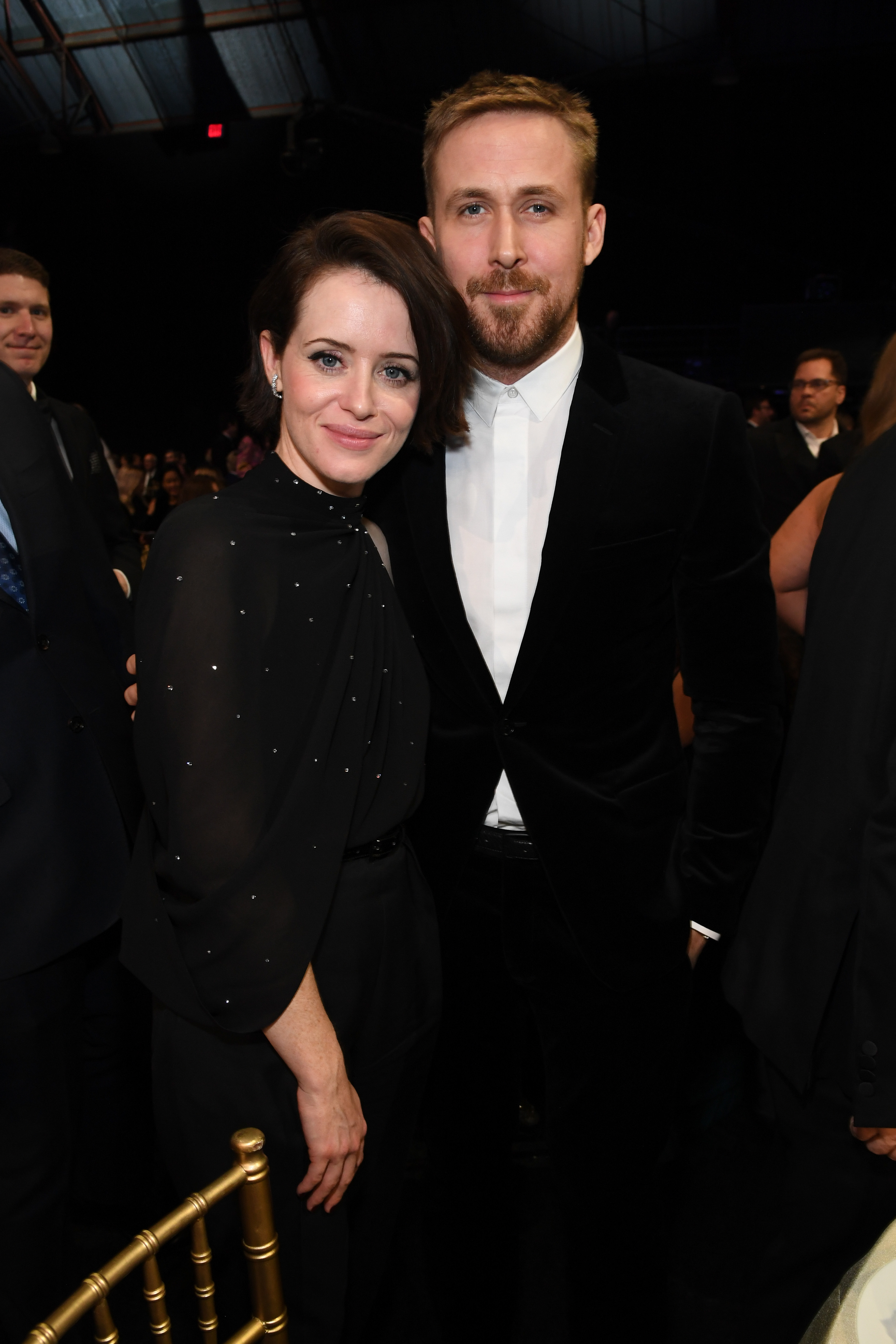 Claire Foy and Ryan Gosling attend the 24th Annual Critics' Choice Awards at Barker Hangar in Santa Monica, California, on Jan. 13, 2019.