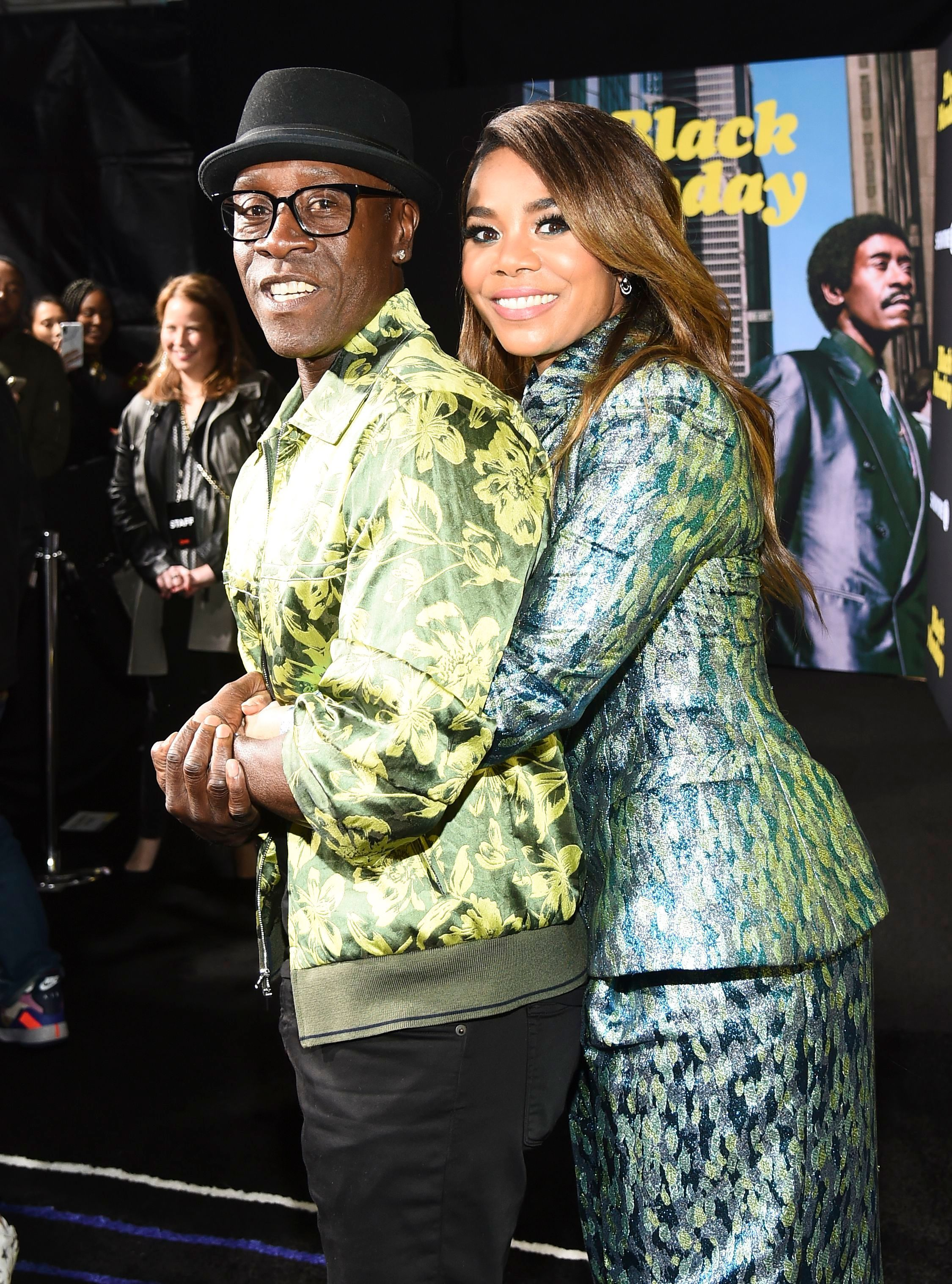 """Don Cheadle and Regina Hall attend the """"Black Monday"""" TV Show Premiere in Los Angeles on Jan. 14, 2019."""