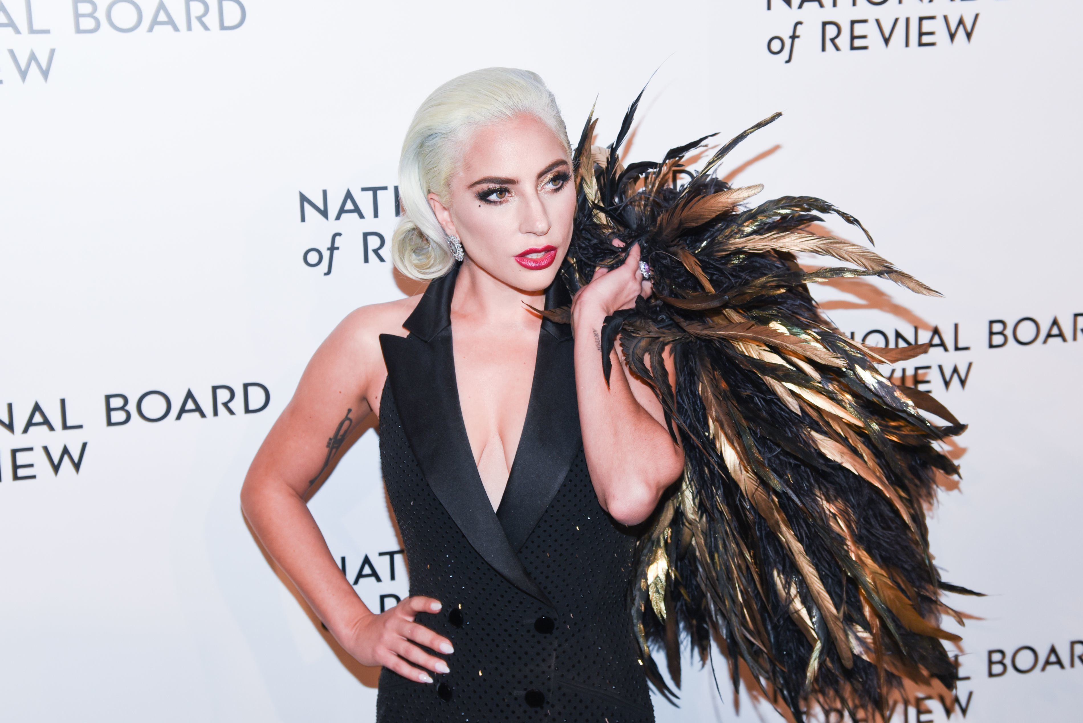 Lady Gaga arrives at the National Board of Review Awards Gala in New York City on Jan. 8, 2019.