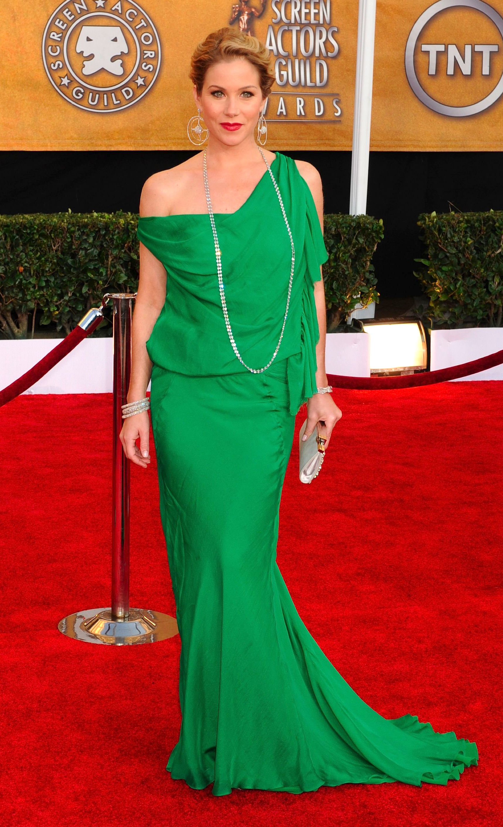 Christina Applegate attends the 15th Annual Screen Actors Guild Awards in Los Angeles on Jan. 25, 2009.
