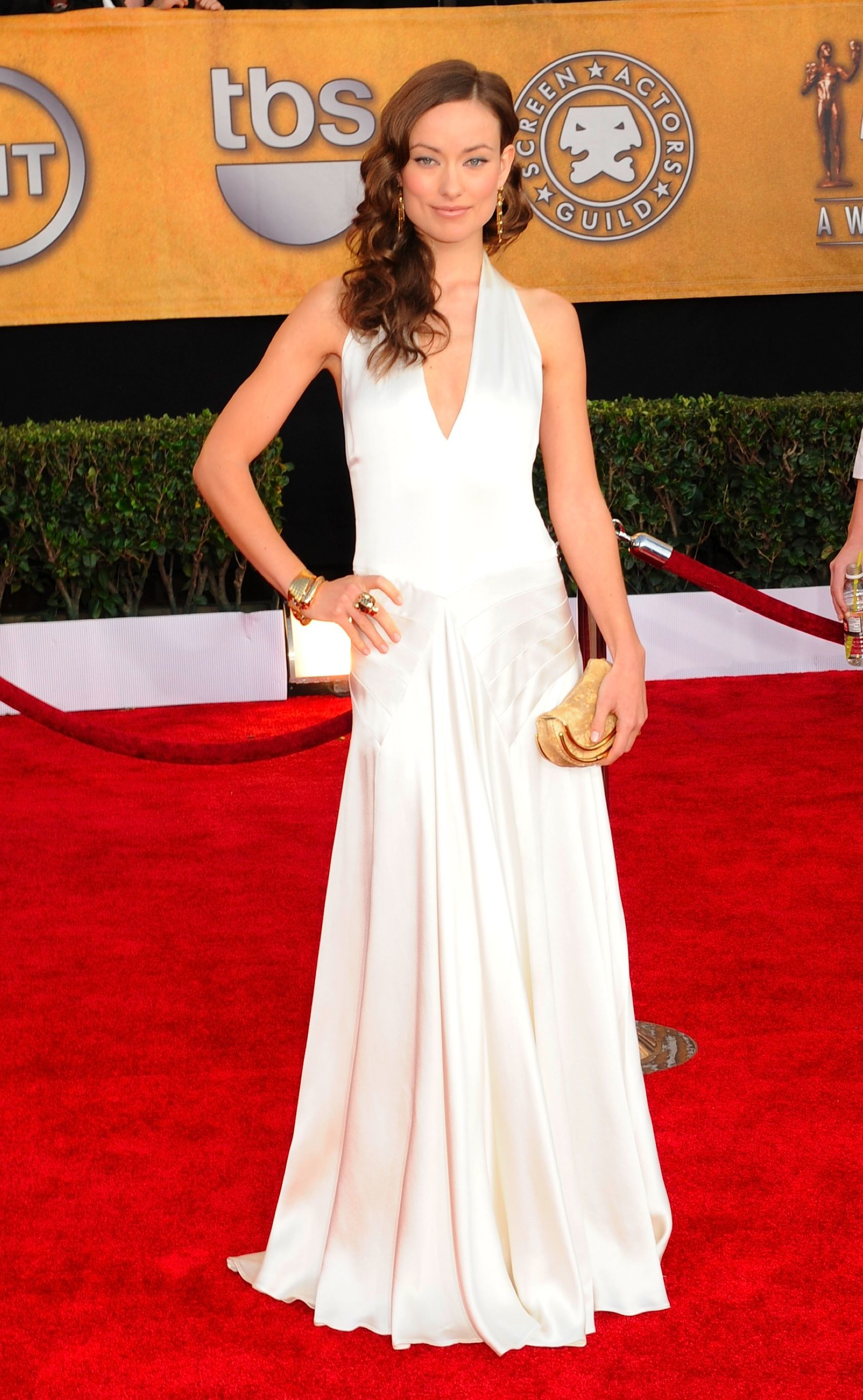 Olivia Wilde attends the 15th Annual Screen Actors Guild Awards in Los Angeles on Jan. 25, 2009.