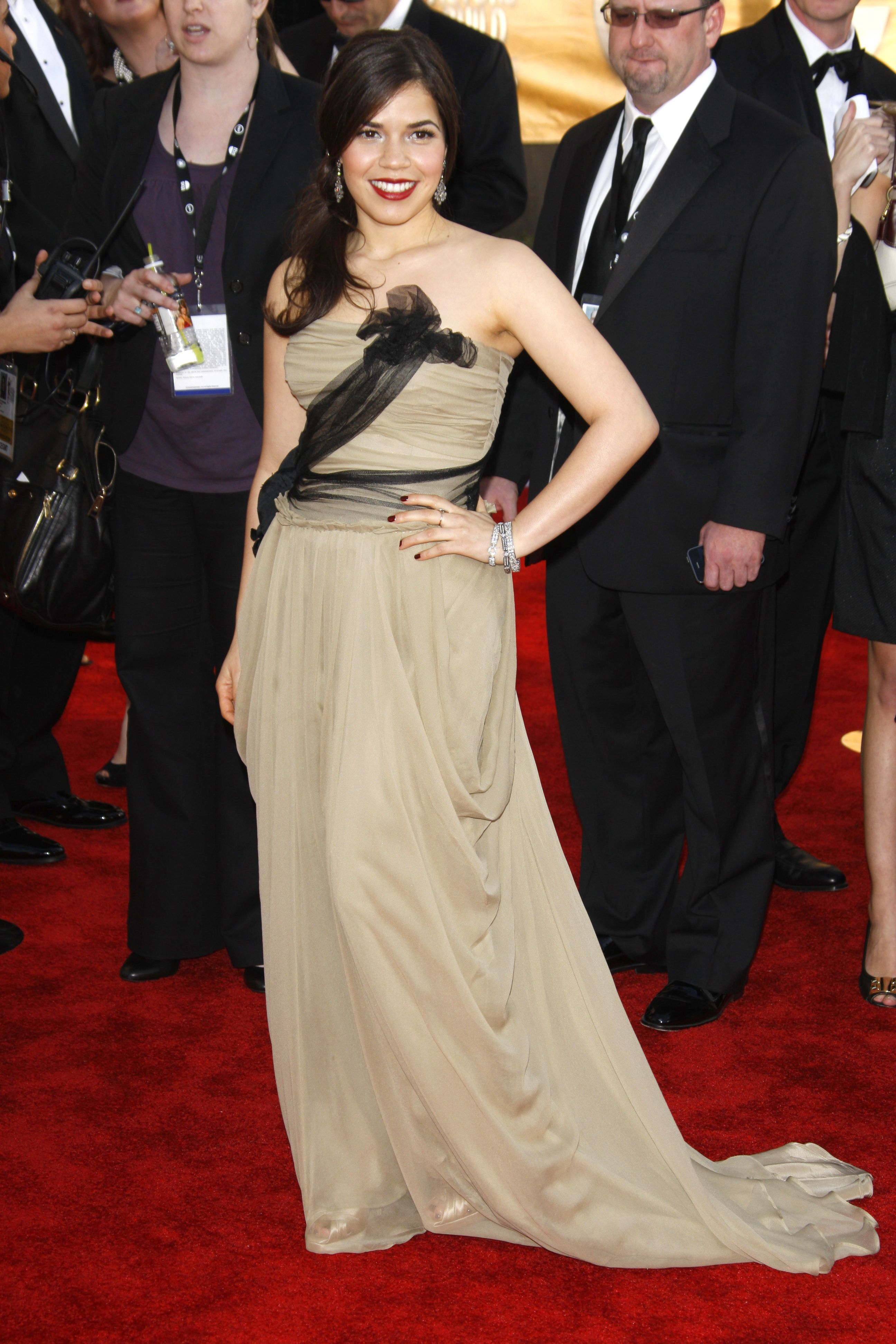 America Ferrera attends the 15th Annual Screen Actors Guild Awards in Los Angeles on Jan. 25, 2009.