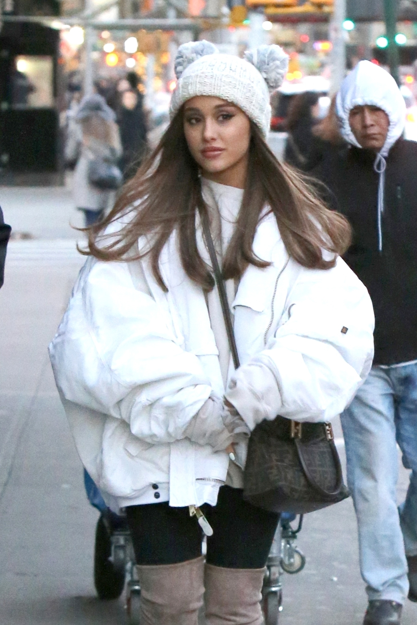 Ariana Grande is spotted out and about in New York City on Dec. 7, 2018.