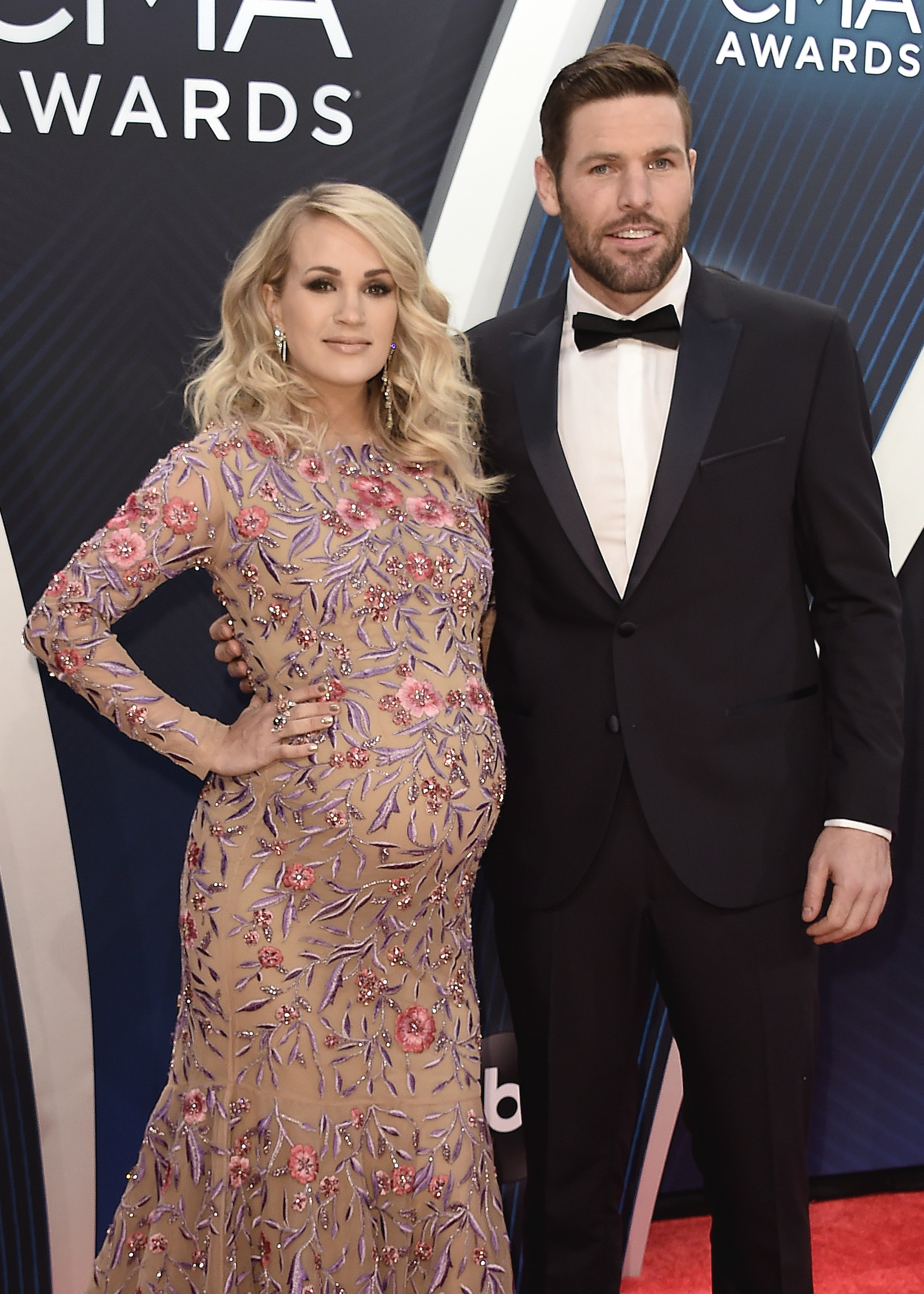 Carrie Underwood and Mike Fisher attend the 52nd Annual Country Music Association Awards in Nashville on Nov. 14, 2018.
