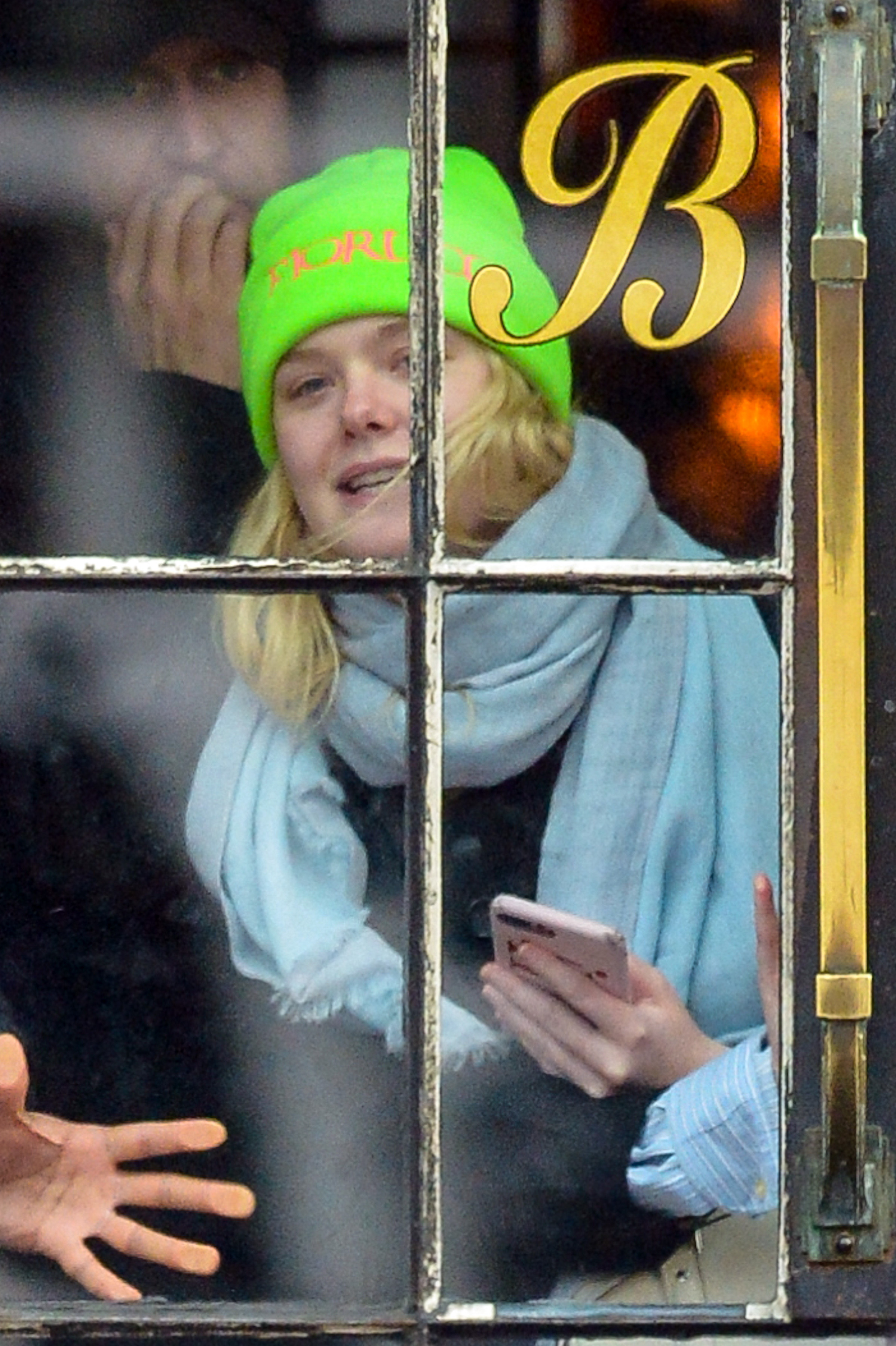 Elle Fanning is seen in New York City on Jan. 10, 2019.