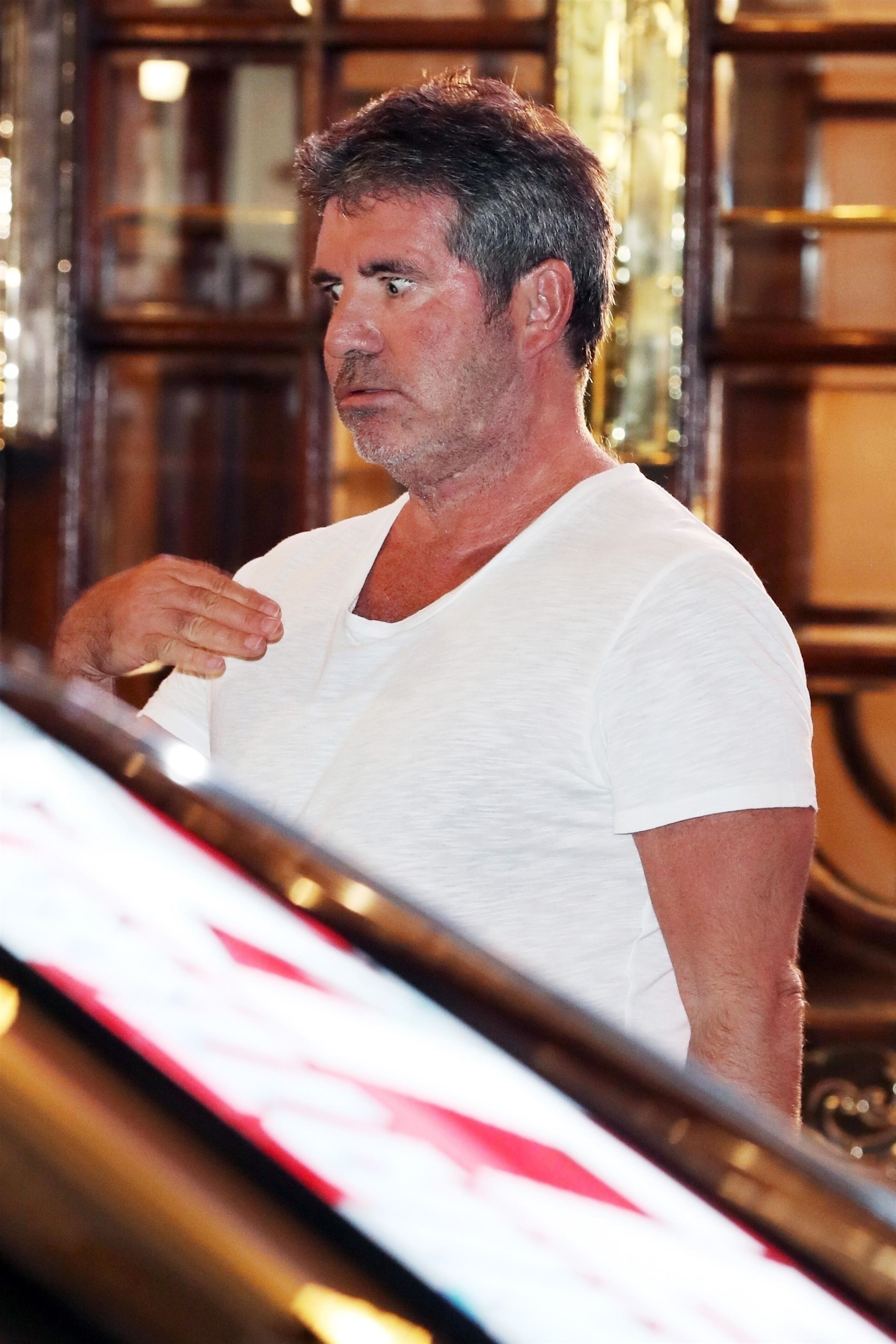 Simon Cowell leaves the set of 'Britain's Got Talent' after auditions held at the London Palladium on Jan. 20, 2019.