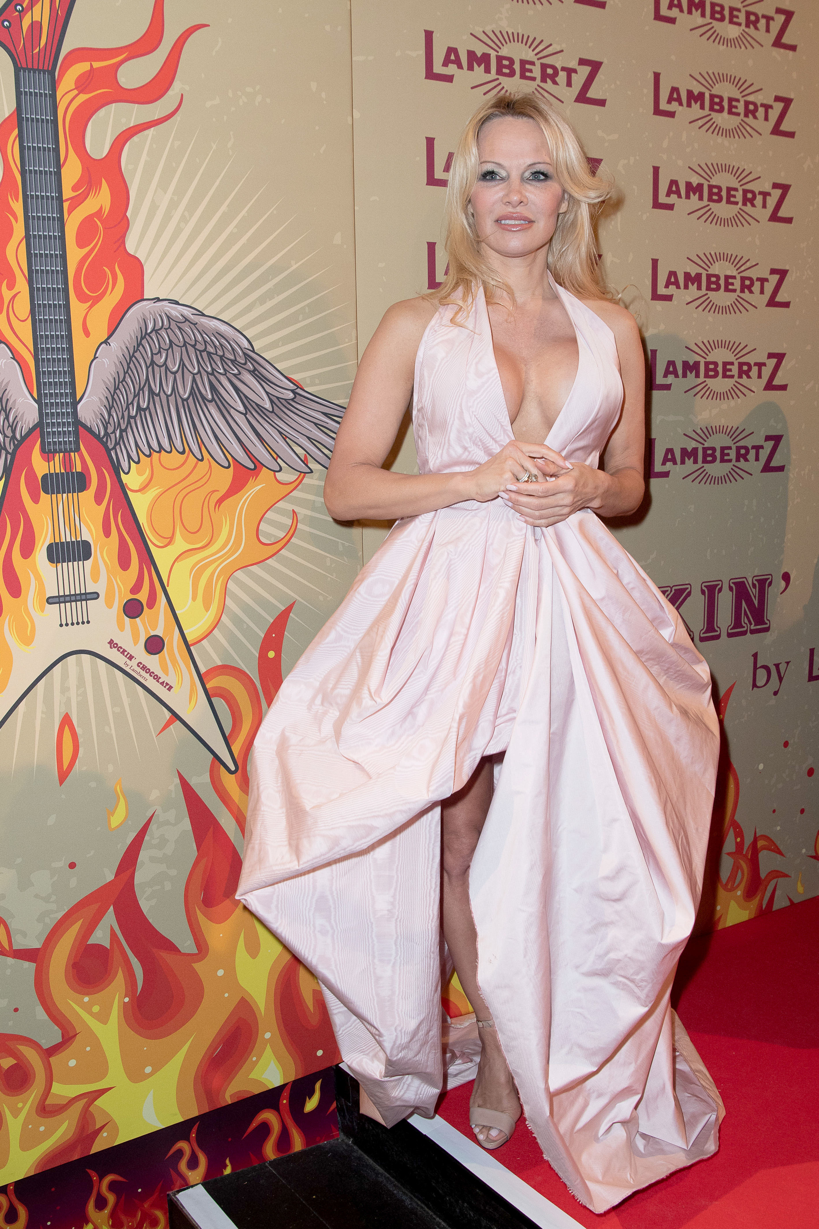 Pamela Anderson attends the Lambertz Monday Night in Cologne, Germany, on Jan. 28, 2019.