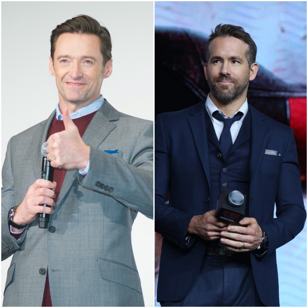 Hugh Jackman and Ryan Reynolds appear in a composite photo from 2019.