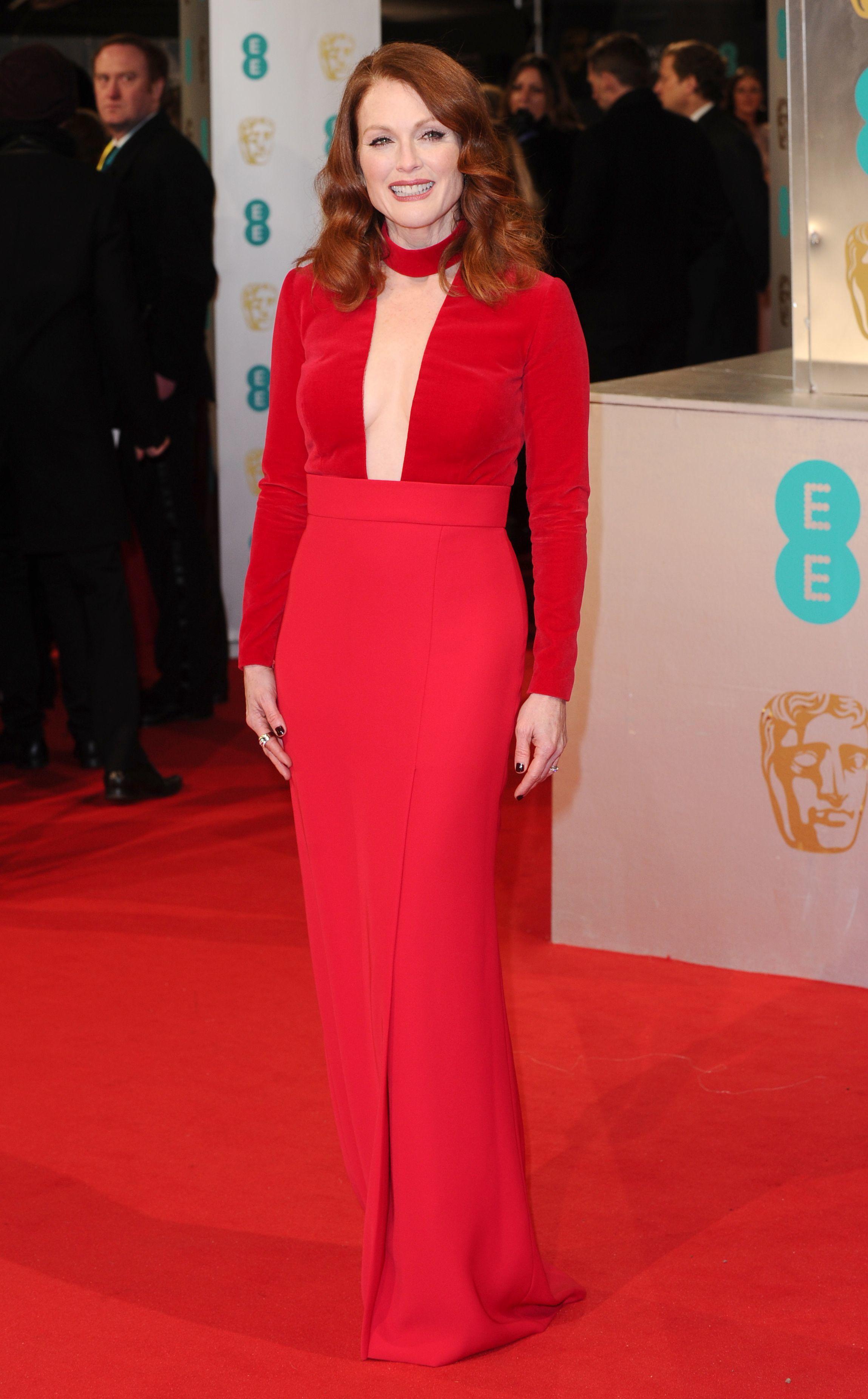 Julianne Moore attends the BAFTA Awards in London on Feb. 8, 2015.