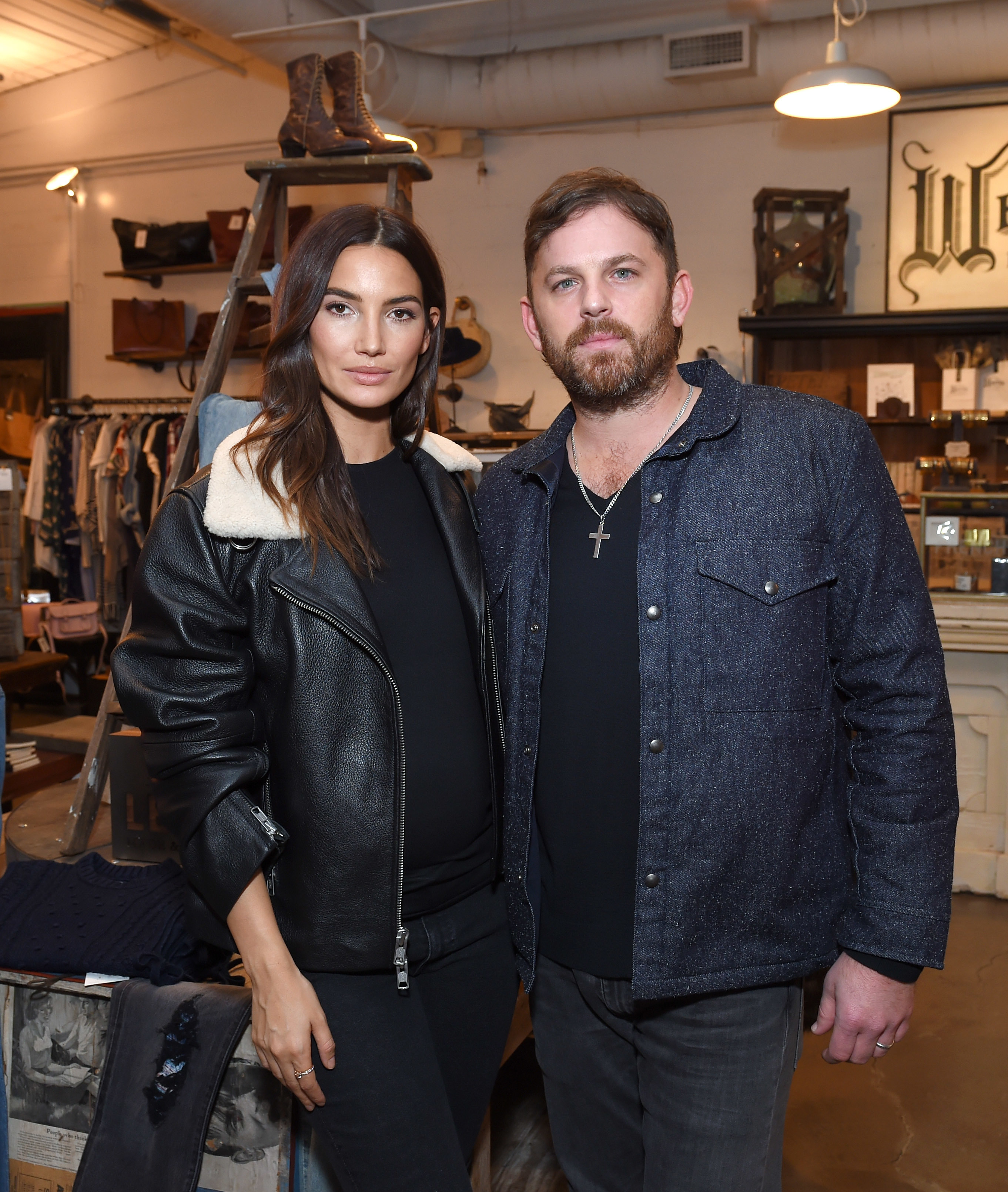 Lily Aldridge and Caleb Followill attend the Lily Aldridge and Levi's Made and Crafted Celebrate Denim In Nashville event in Nashville on Oct. 18, 2018.