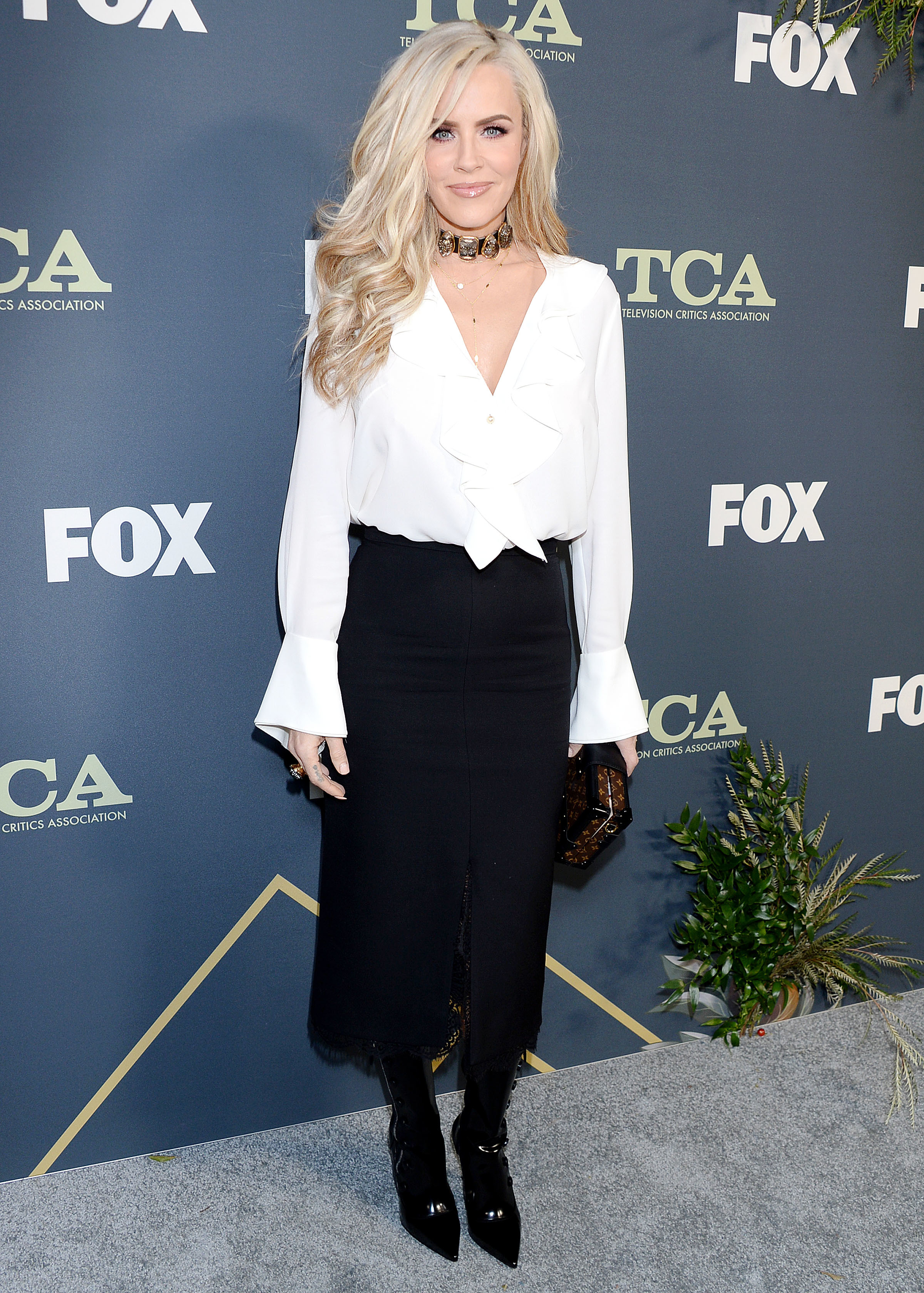 Jenny McCarthy attends the Fox Winter All Star Party during the TCA Winter Press Tour in Los Angeles on Feb. 6, 2019.