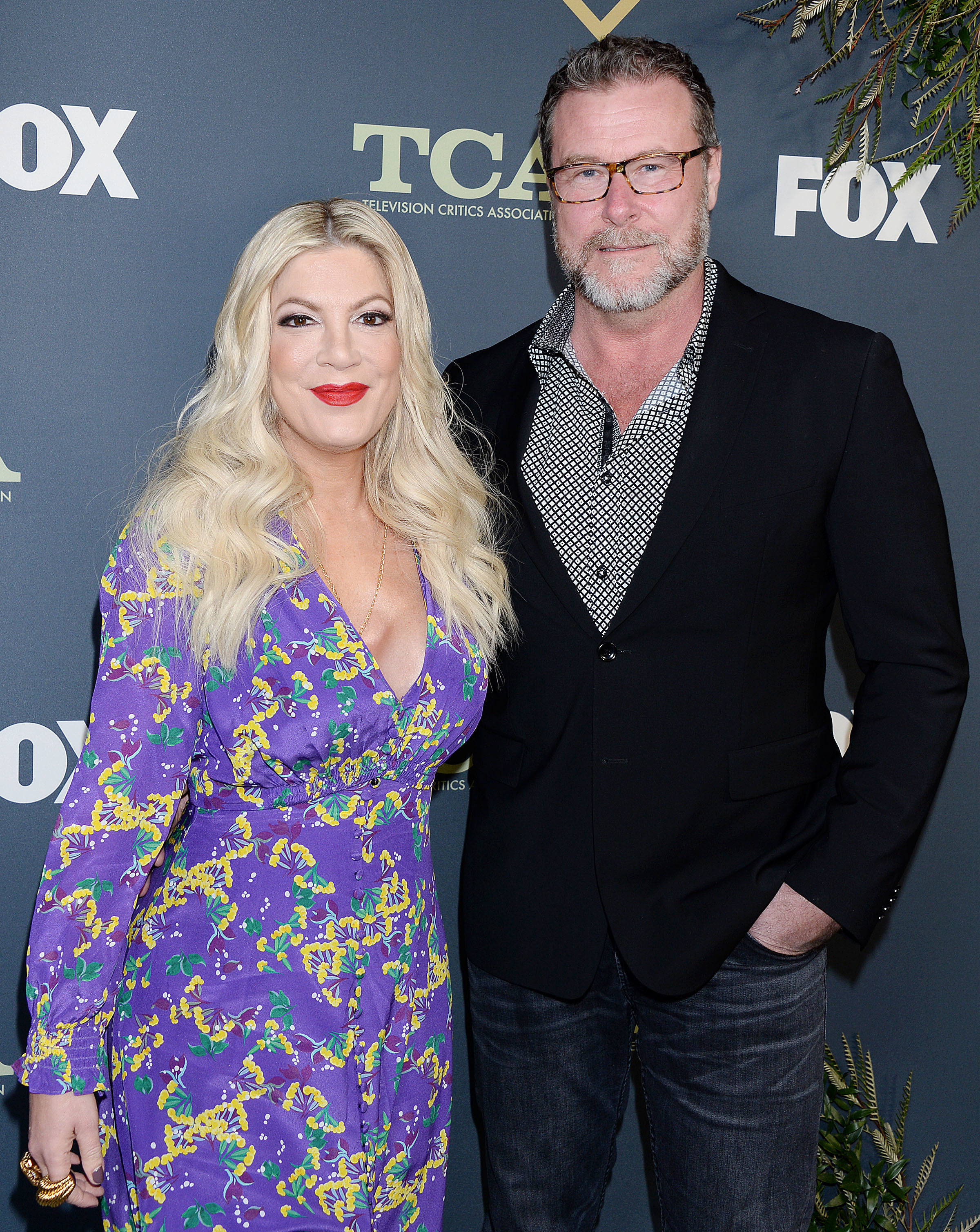 Tori Spelling and Dean McDermott attend the Fox Winter All Star Party during the TCA Winter Press Tour in Los Angeles on Feb. 6, 2019.