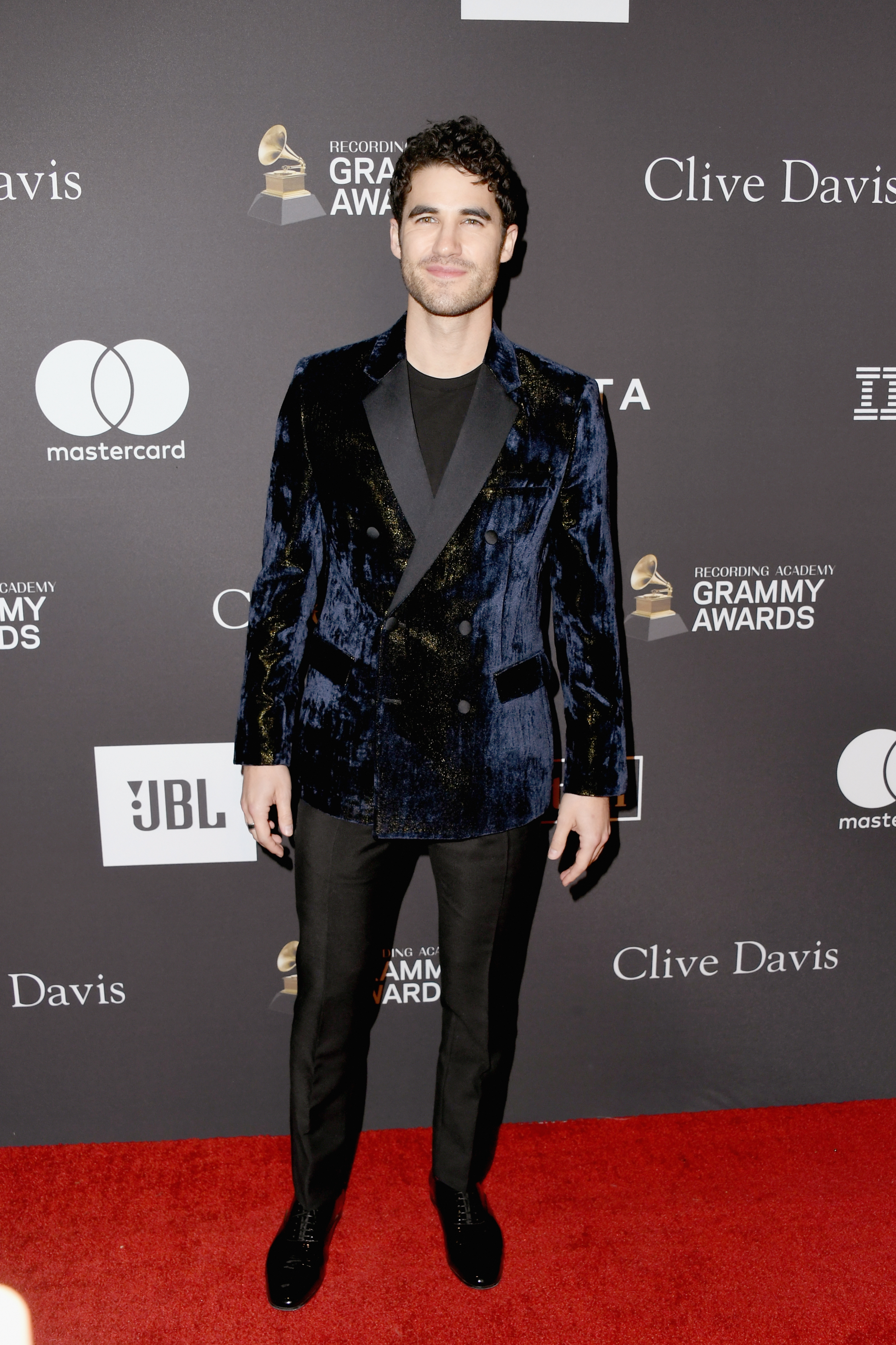 Darren Criss attends the Pre Grammy Gala and Salute to Industry Icons presented by The Recording Academy™ and Clive Davis at the Beverly Hilton hotel in Beverly Hills on Feb. 9, 2019.