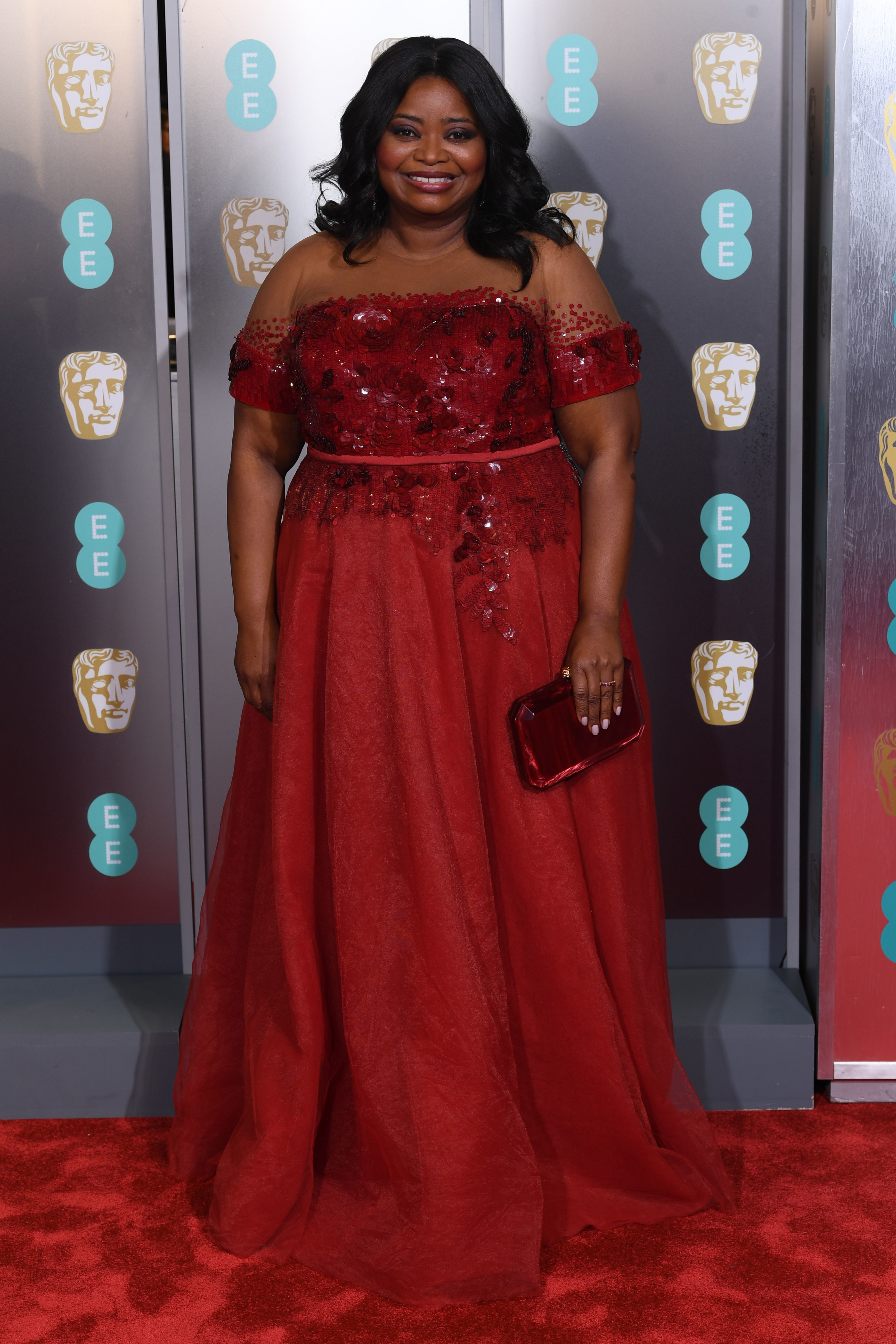 Octavia Spencer attends the 72nd British Academy Film Awards in London on Feb. 10, 2019.