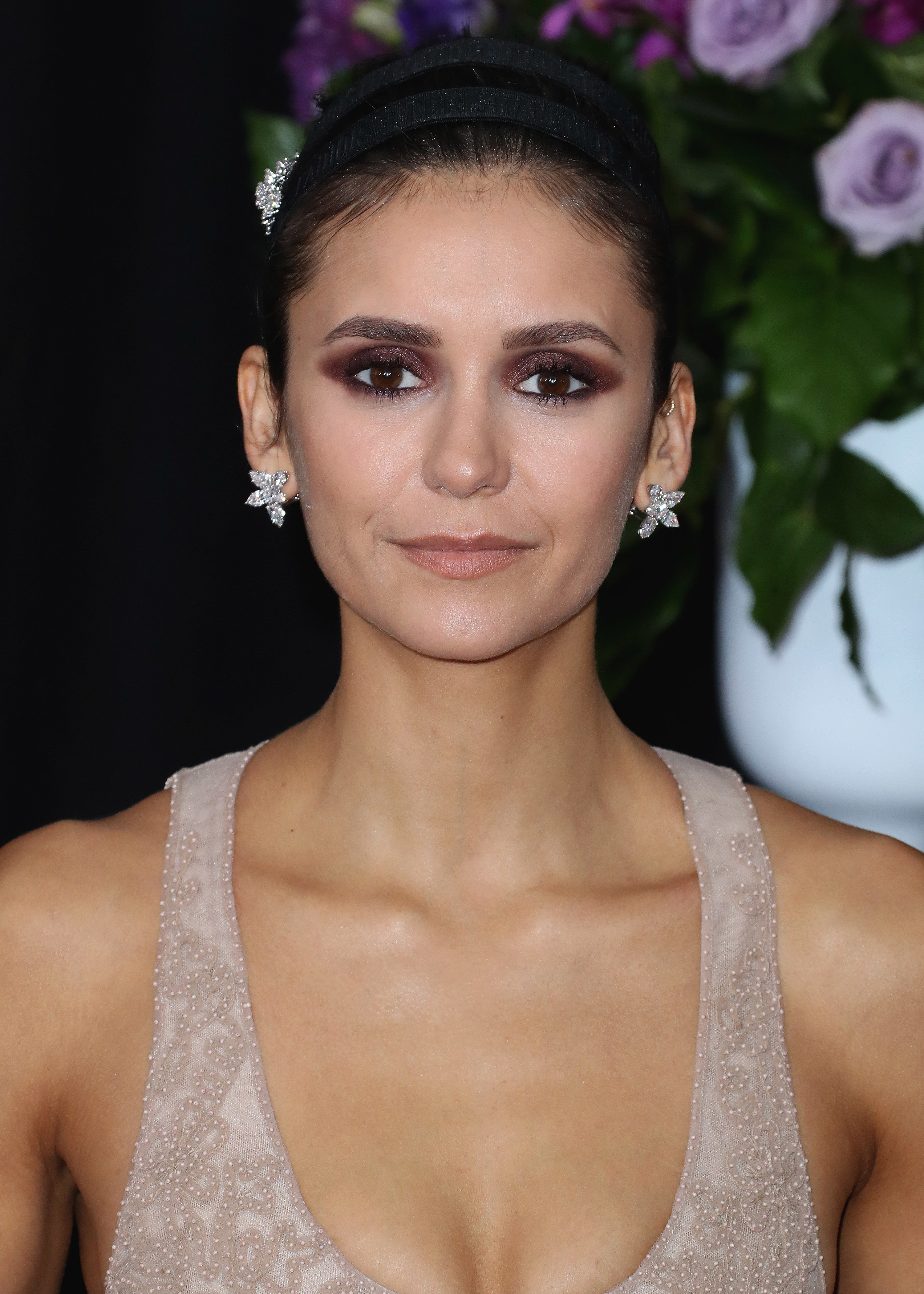 Nina Dobrev attends the 61st Annual Grammy Awards in Los Angeles on Feb. 10, 2019.