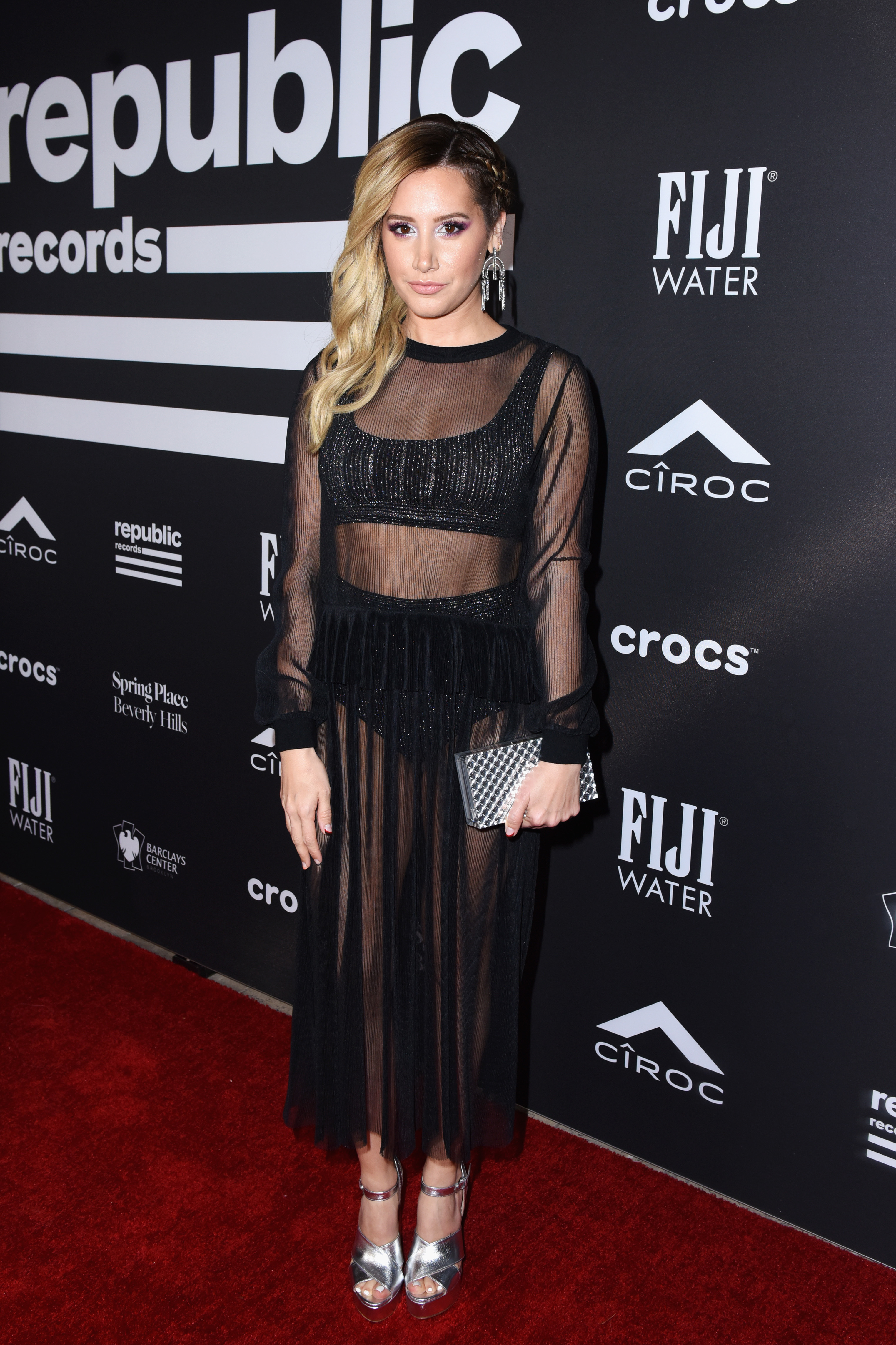 Ashley Tisdale attends Republic Records' Grammys afterparty at Spring Place Beverly Hills on Feb. 10, 2019.