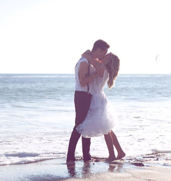"""""""I'm still trying to figure out how I got to be your forever valentine. But I think it was the moment I chose to love myself that you came into my life. Happy Valentines Day @cmfrench I'm the luckiest girl 💕""""   Ashley Tisdale, who posted this on Feb. 14, 2019."""