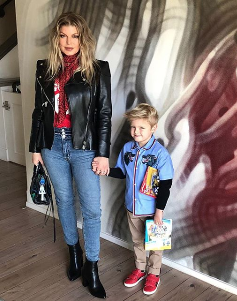 """""""Will u be my Valentine #axljack? ❤️❤️💋💋🥰🥰""""   Fergie, who posted this on Feb. 14, 2019."""