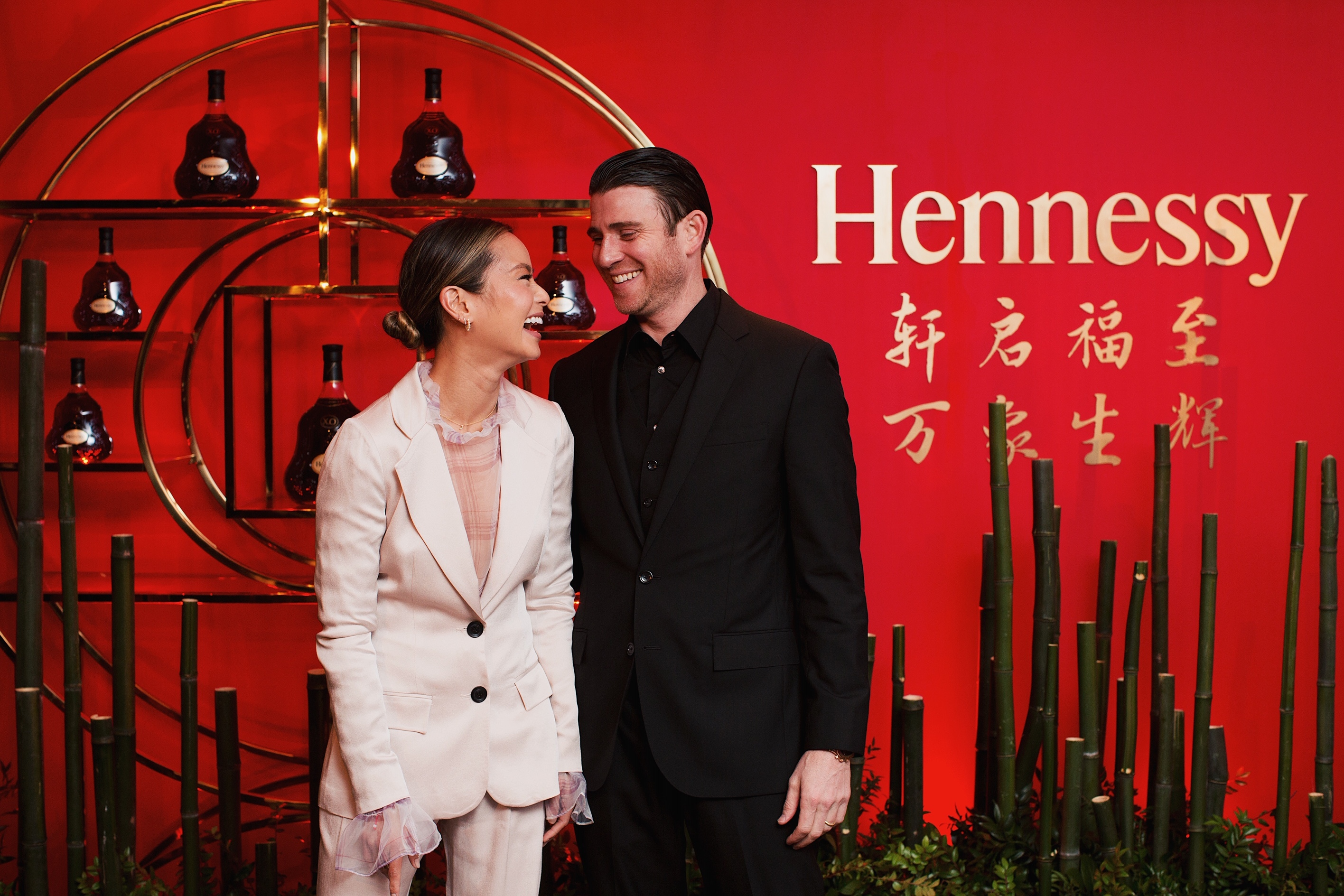 """Jamie Chung and husband Bryan Greenberg attend Hennessy's """"East Meets West"""" Lunar New Year celebration at the Bay Room in New York City on Feb. 13, 2019."""