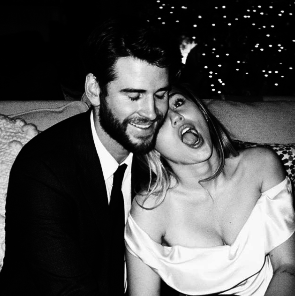 """My Valentine every single day ❤️ @liamhemsworth""""   Miley Cyrus, who posted this on Feb. 14, 2019."""
