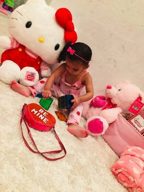 """Happy Valentine's Day baby girl‼️ Daddy LOVES YOU 💙💙""   Rob Kardashian, who posted this on Feb. 14, 2019."