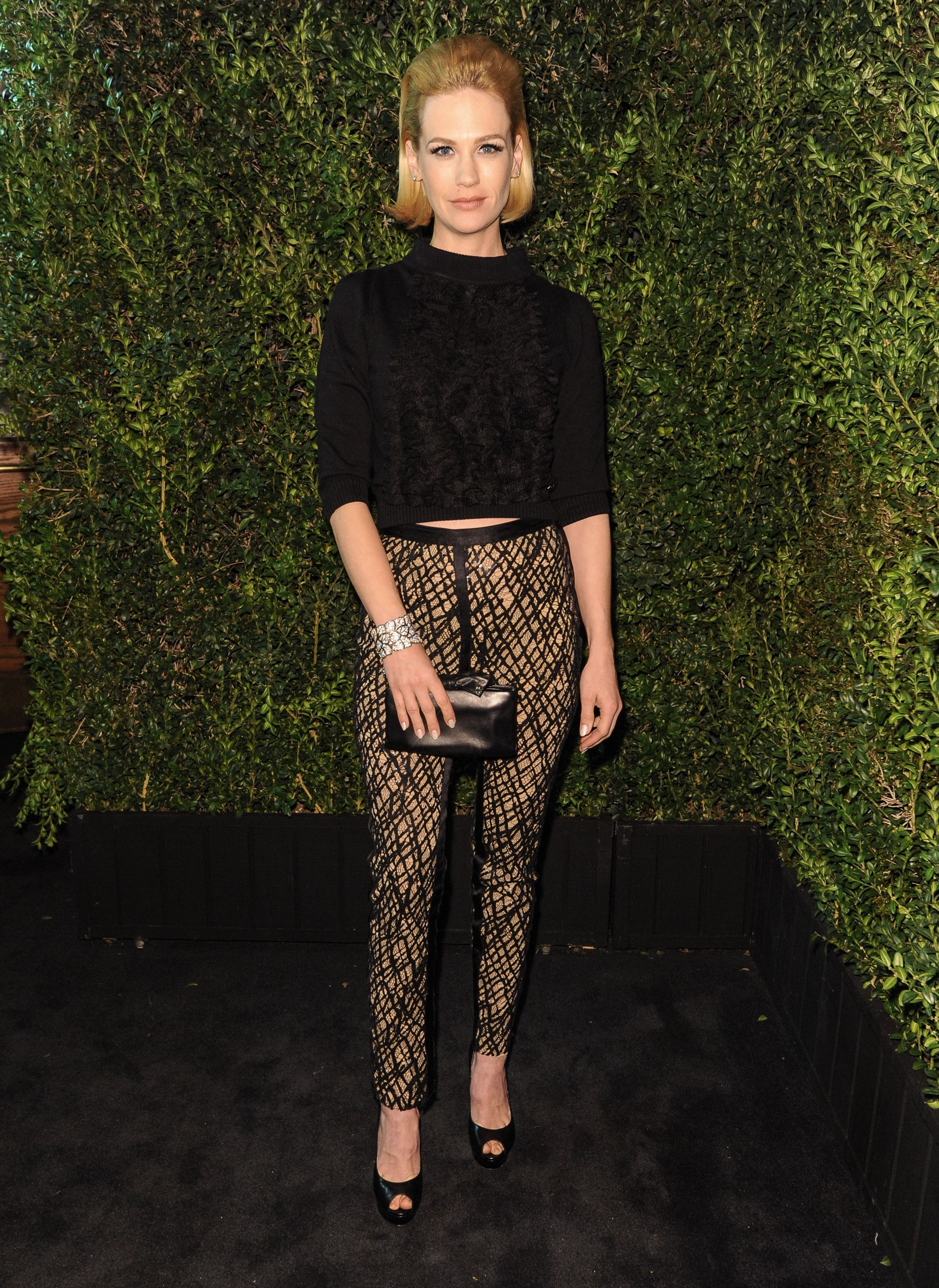 January Jones attends the the Charles Finch and Chanel Pre Oscar Dinner in Los Angeles on Feb. 23, 2013.