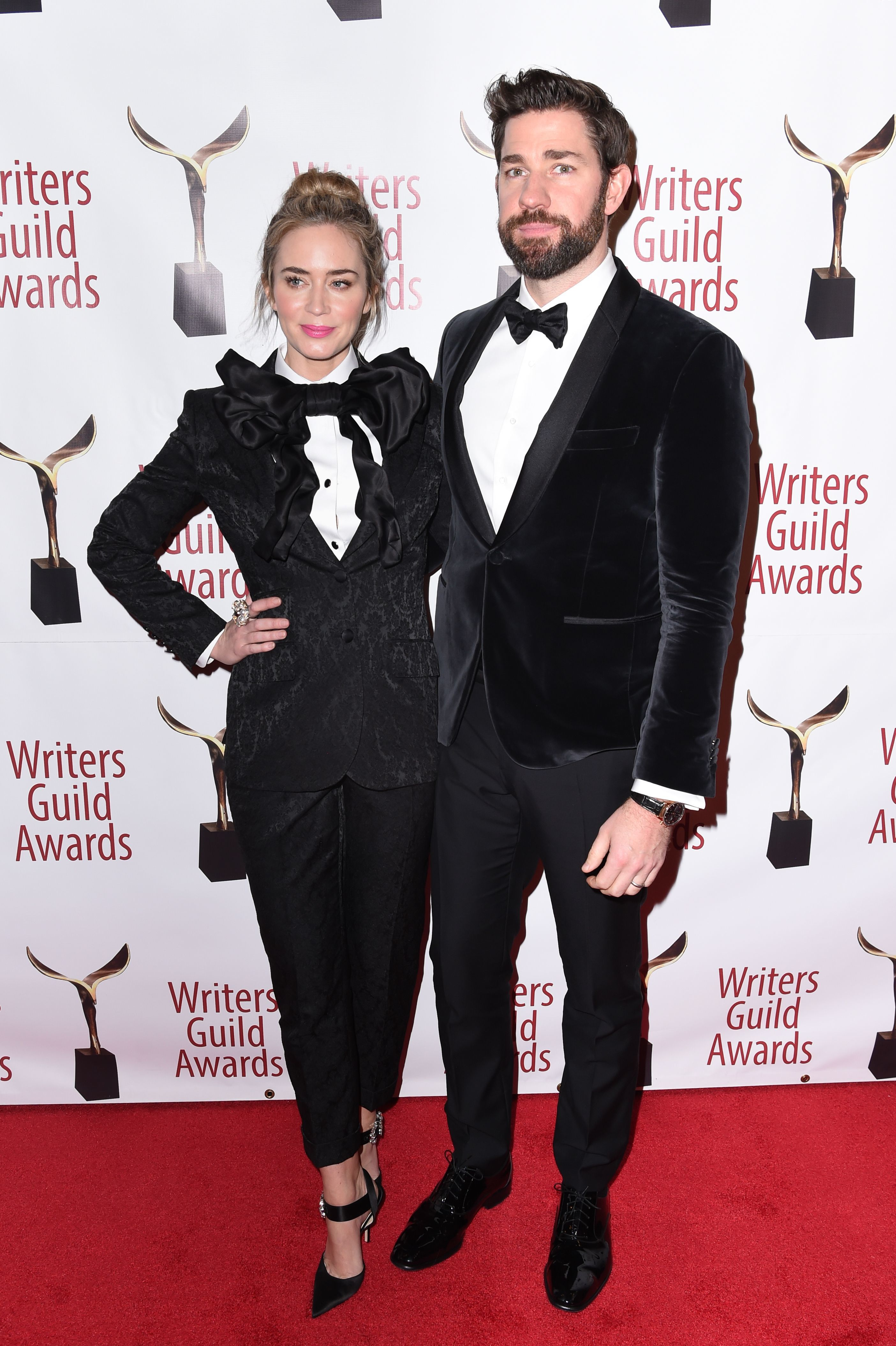 Emily Blunt and John Krasinski attend the 71st Annual Writers Guild Awards in New York City on Feb. 17, 2019.