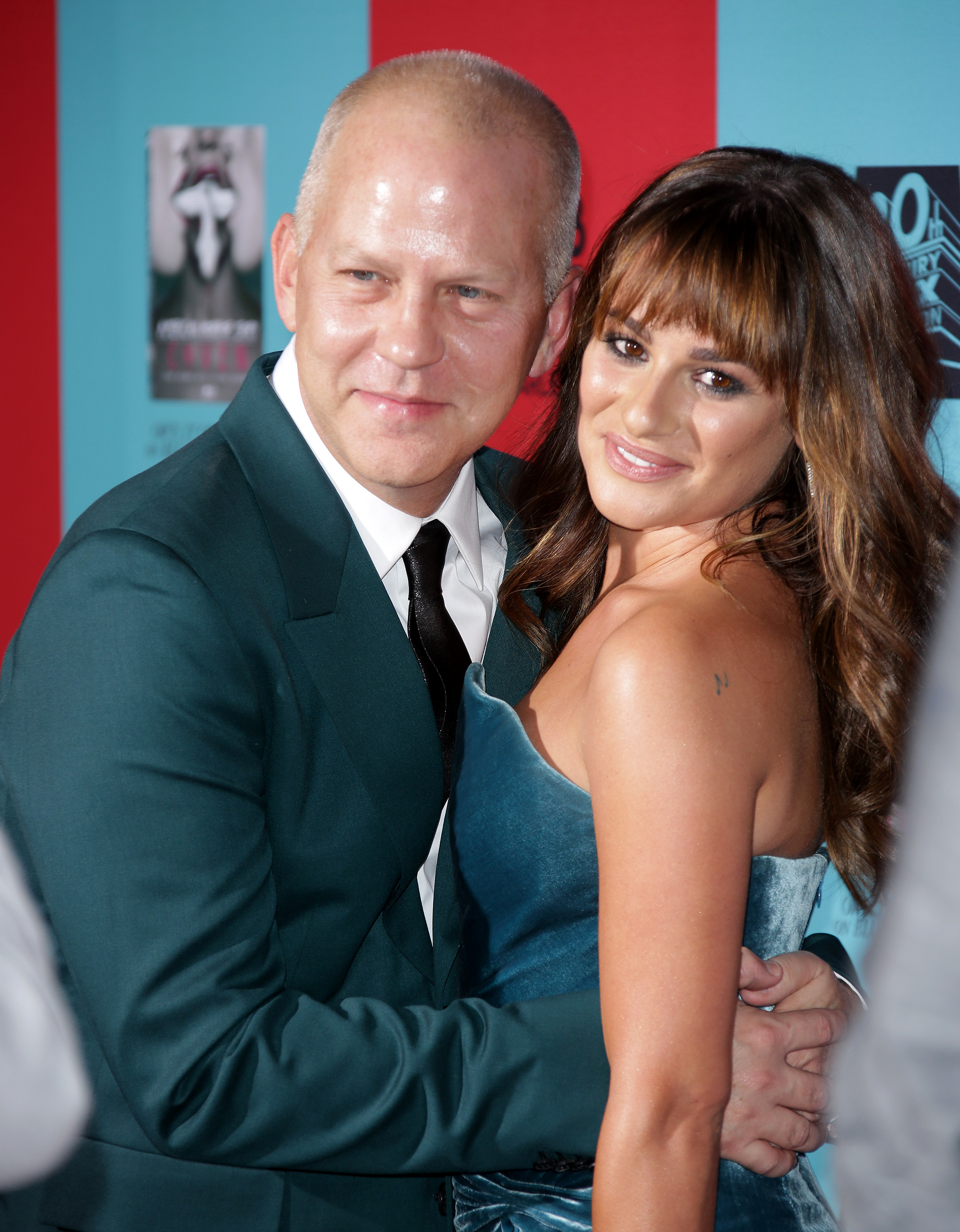 """Ryan Murphy and Lea Michele attend the premiere of """"American Horror Story: Freak Show"""" in Los Angeles on Oct. 5, 2014."""