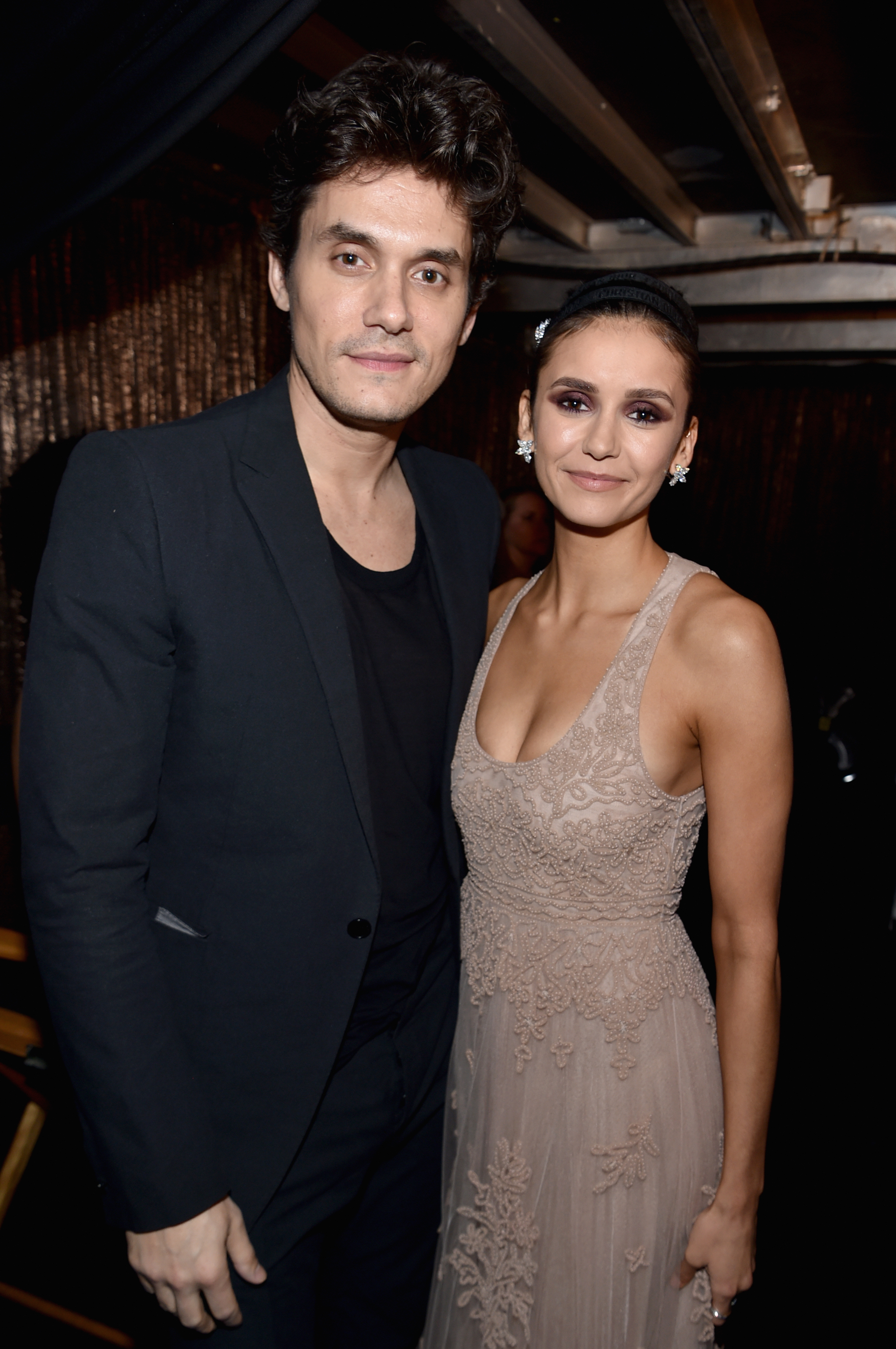 John Mayer and Nina Dobrev attend the 61st Grammy Awards at Staples Center in Los Angeles on Feb. 10, 2019.