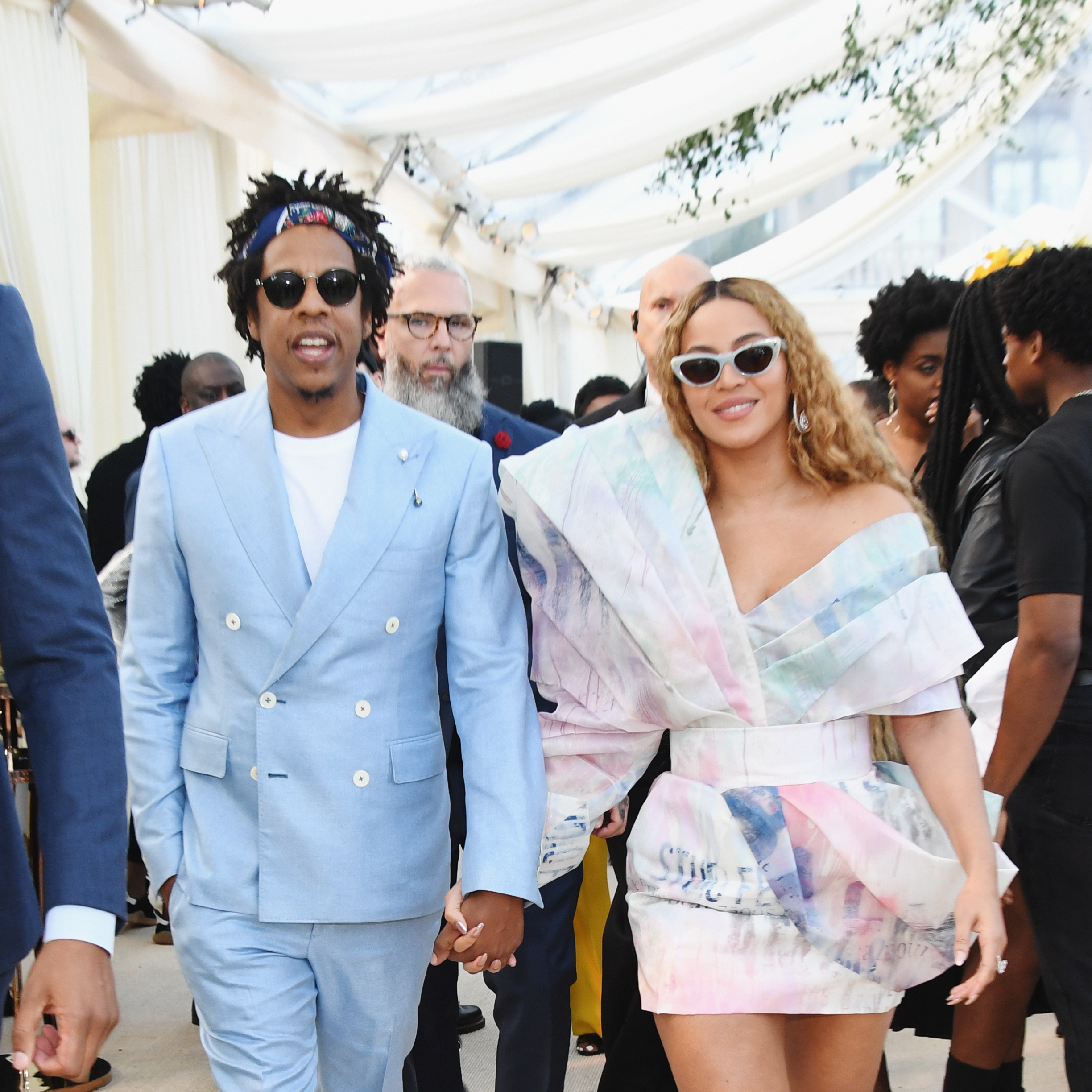 Jay Z and Beyonce attend 2019 Roc Nation THE BRUNCH in Los Angeles on Feb. 9, 2019.