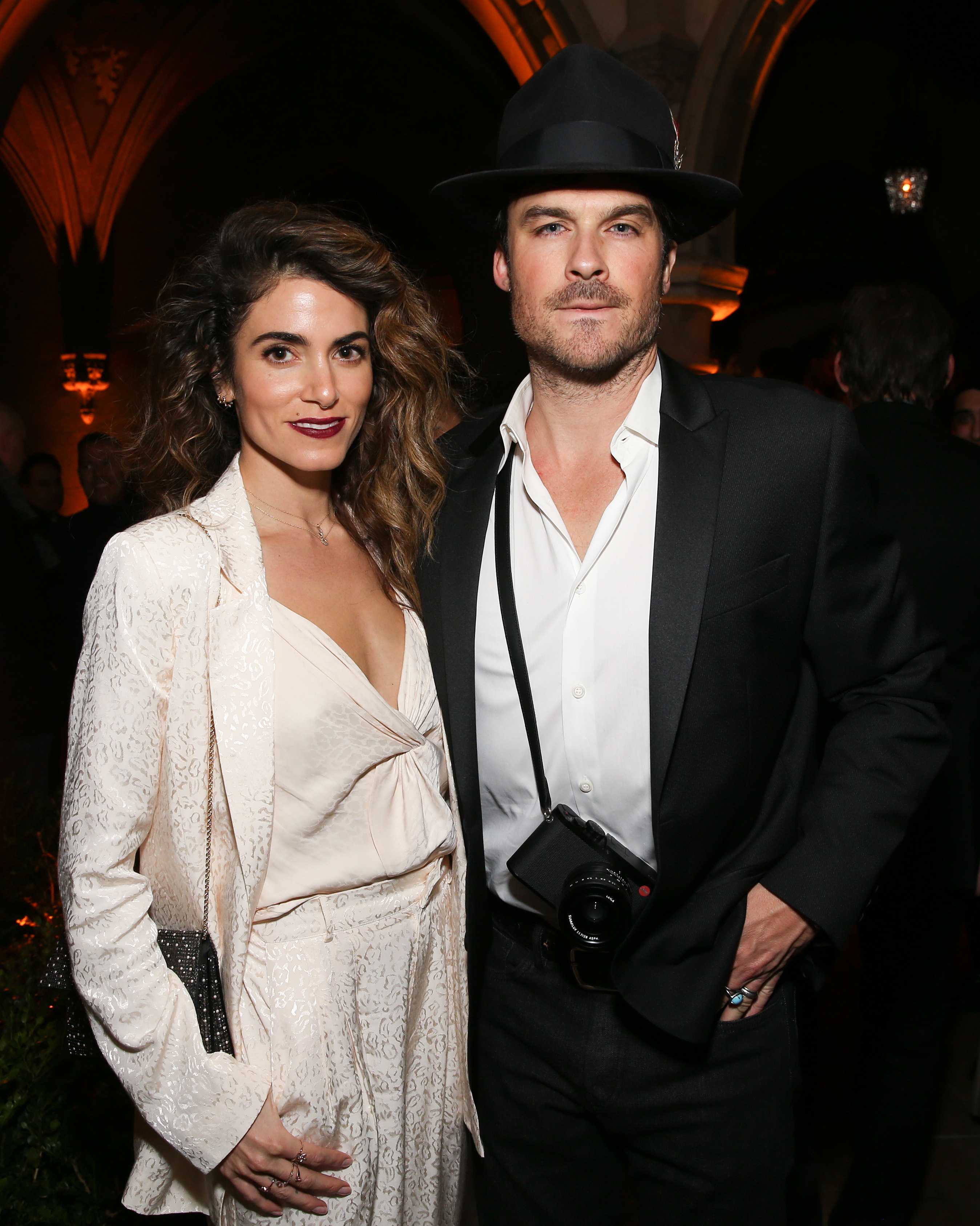 Nikki Reed and Ian Somerhalder attend the Cadillac Oscar Party in Los Angeles on Feb. 21, 2019.