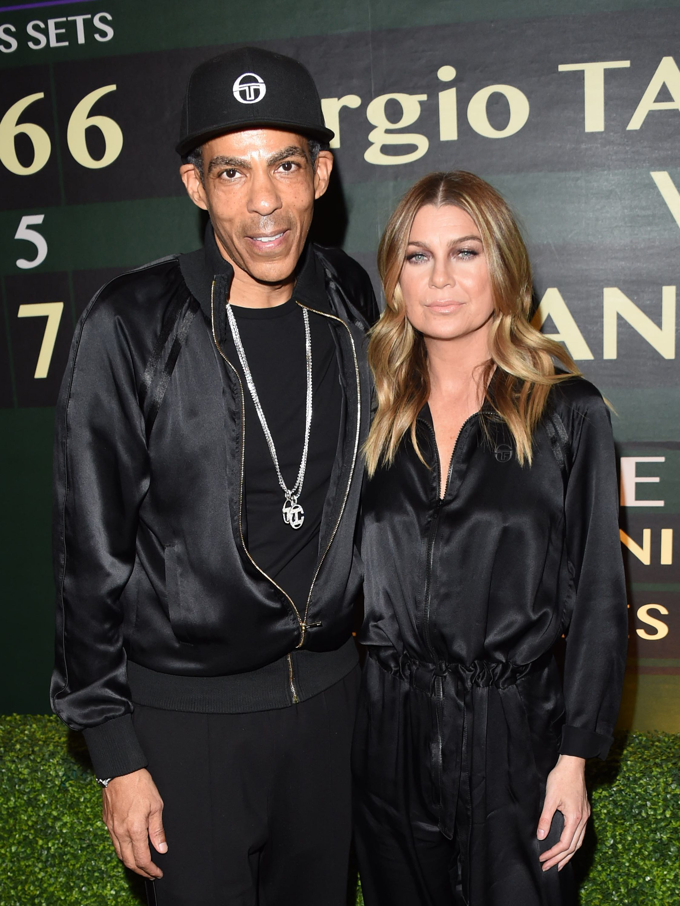 Chris Ivery and Ellen Pompeo attend the Sergio Tacchini's STLA Launch in Los Angeles on Feb. 21, 2019.