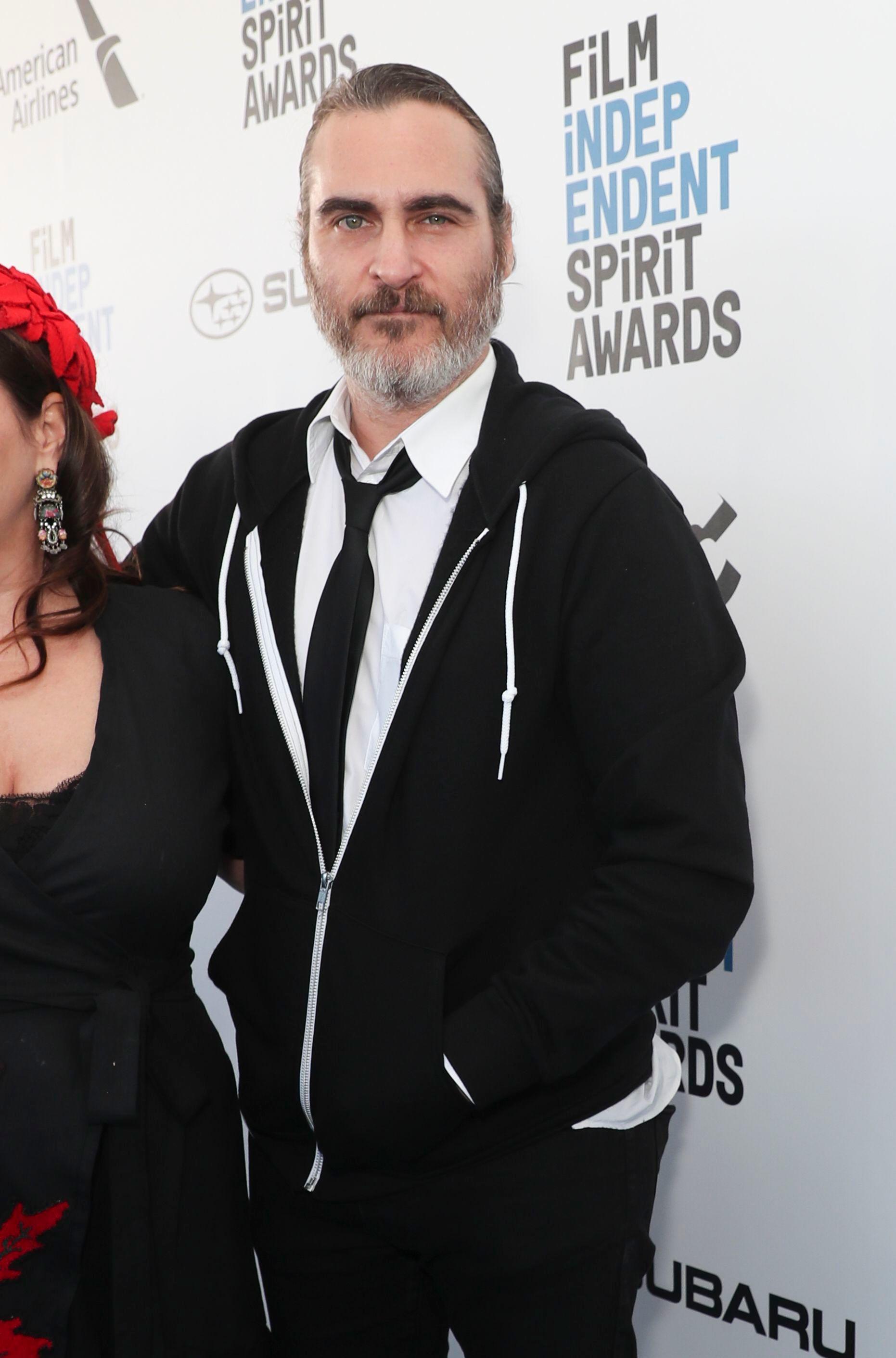 Joaquin Phoenix attends the 34th Film Independent Spirit Awards in Santa Monica, Calif., on Feb. 23, 2019.