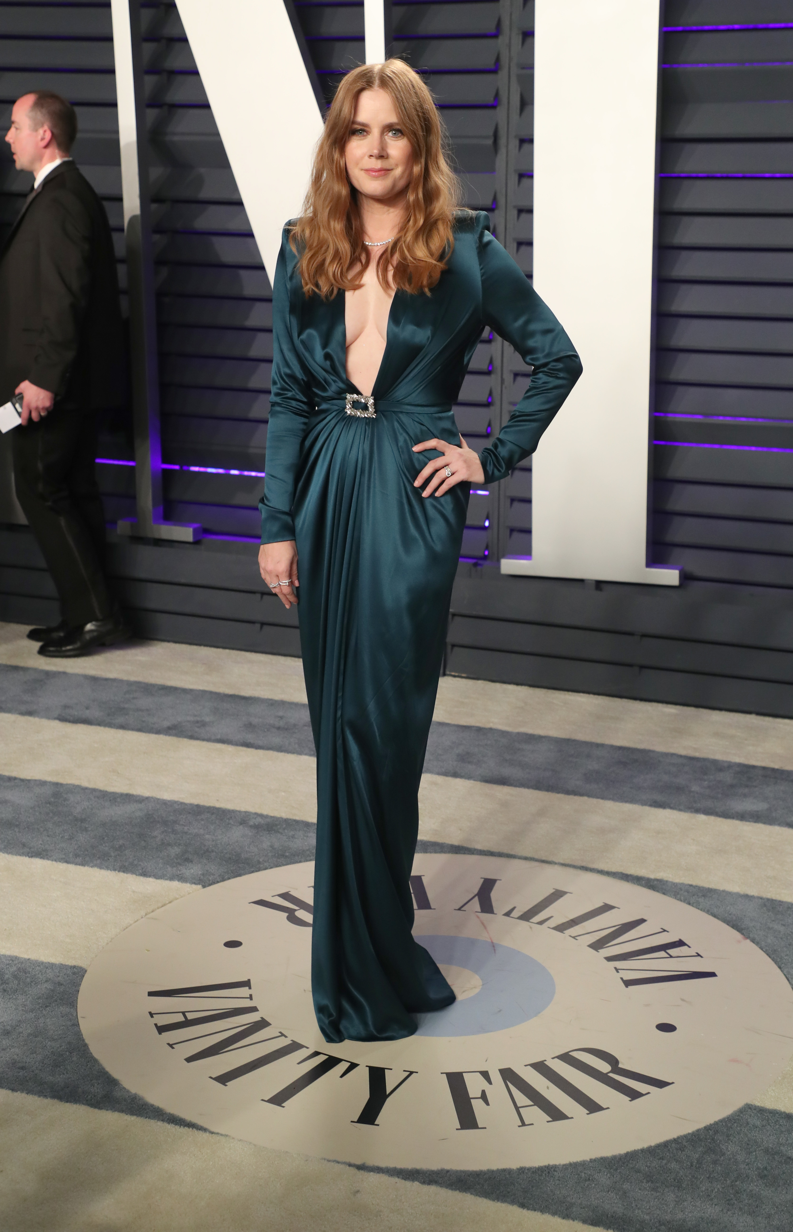 Amy Adams attends the Vanity Fair Oscar Party in Beverly Hills on Feb. 24, 2019.