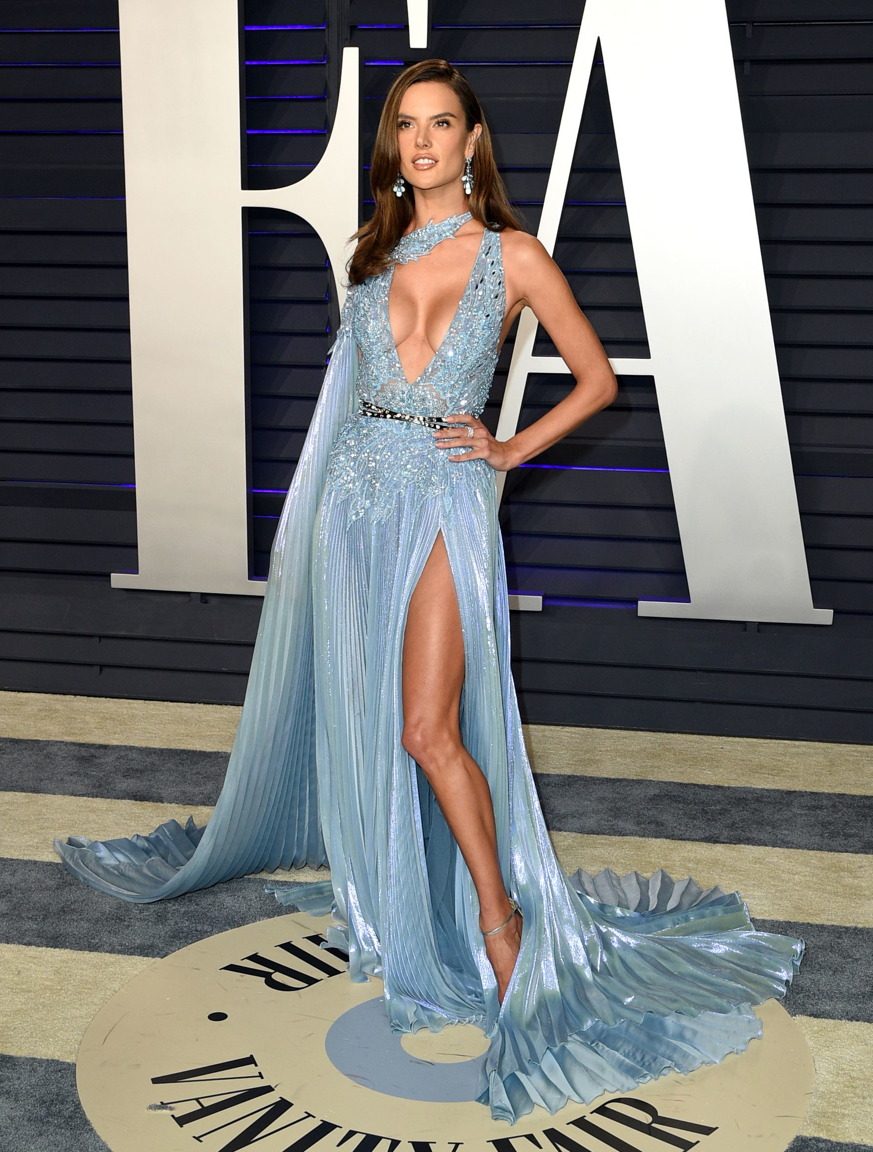 Alessandra Ambrosio attends the Vanity Fair Oscar Party in Beverly Hills on Feb. 24, 2019.