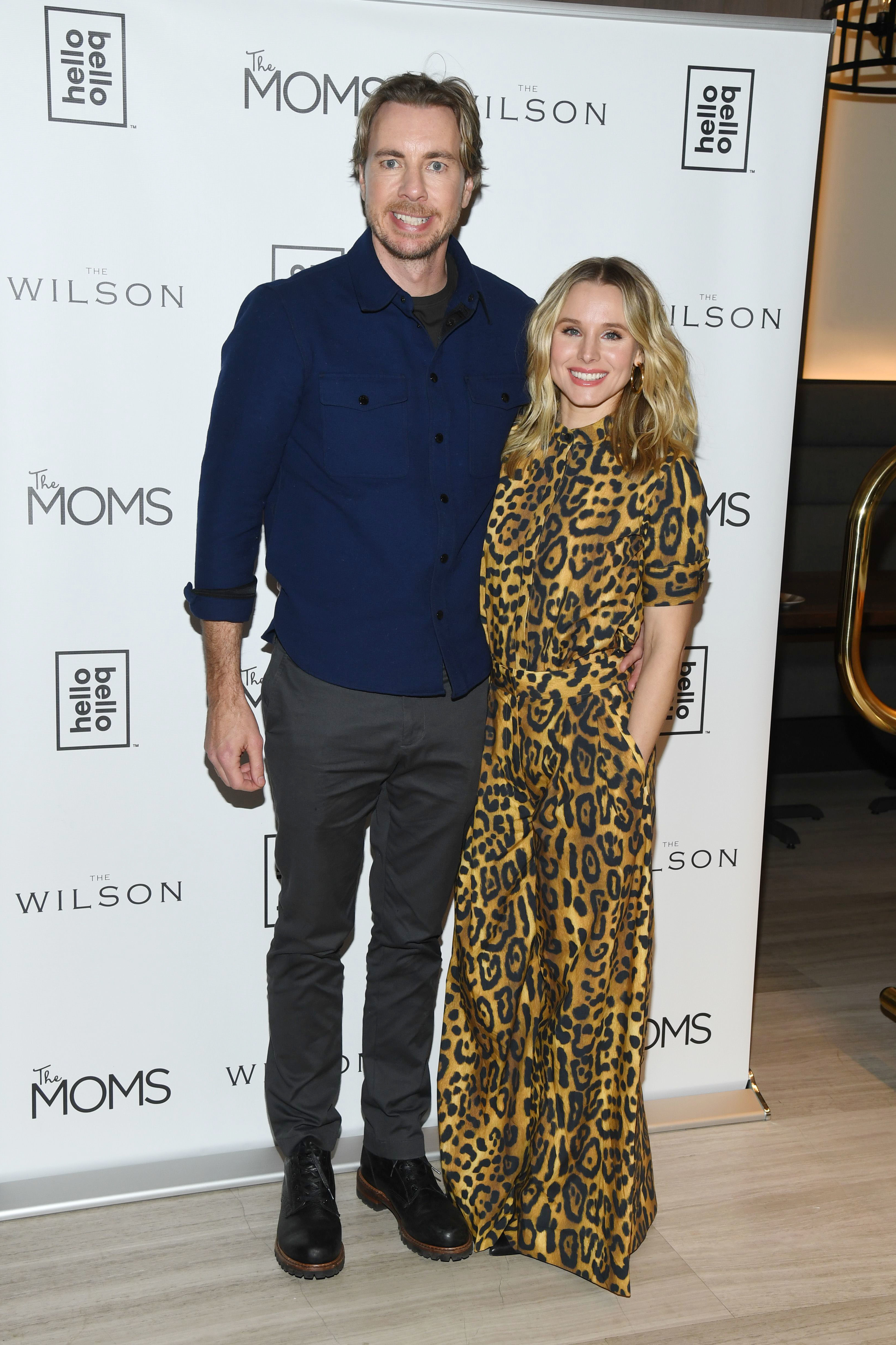 Dax Shepard and Kristen Bell attend the Hello Bello brand launch in New York City on Feb. 25, 2019.