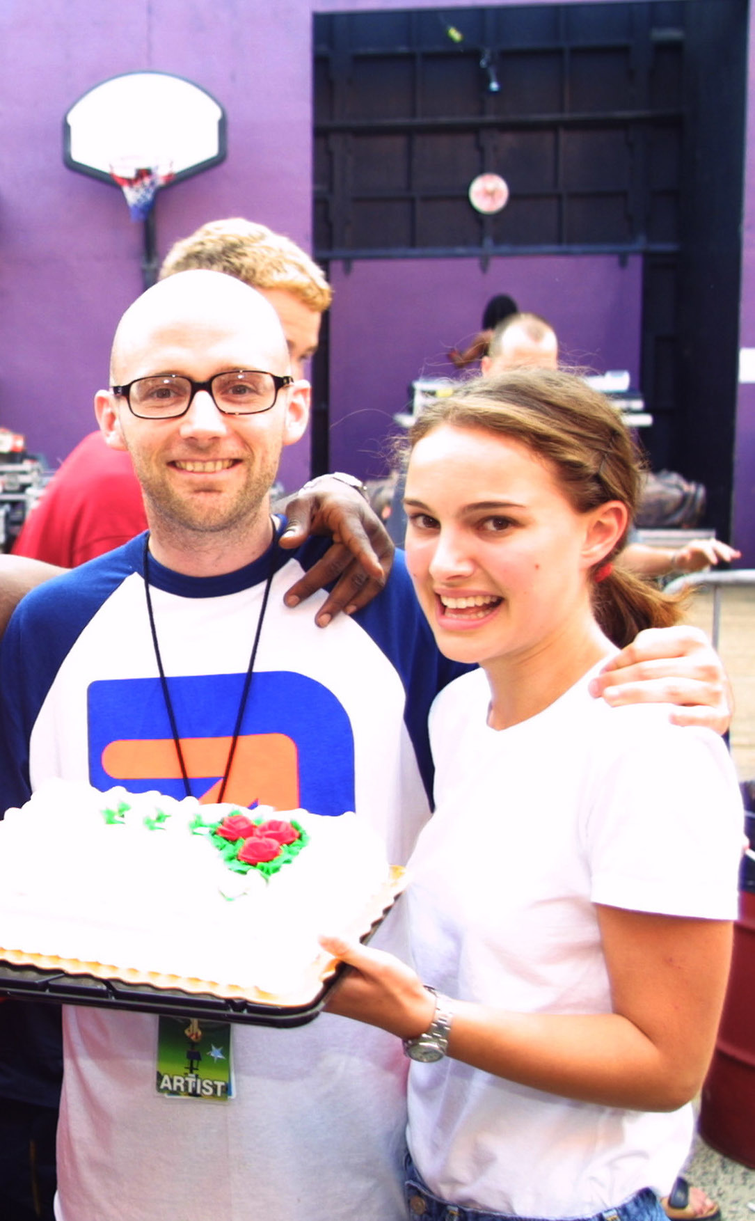Moby and Natalie Portman attend the Area One Concert at Jones Beach in Wantagh, New York, on July 15, 2001.